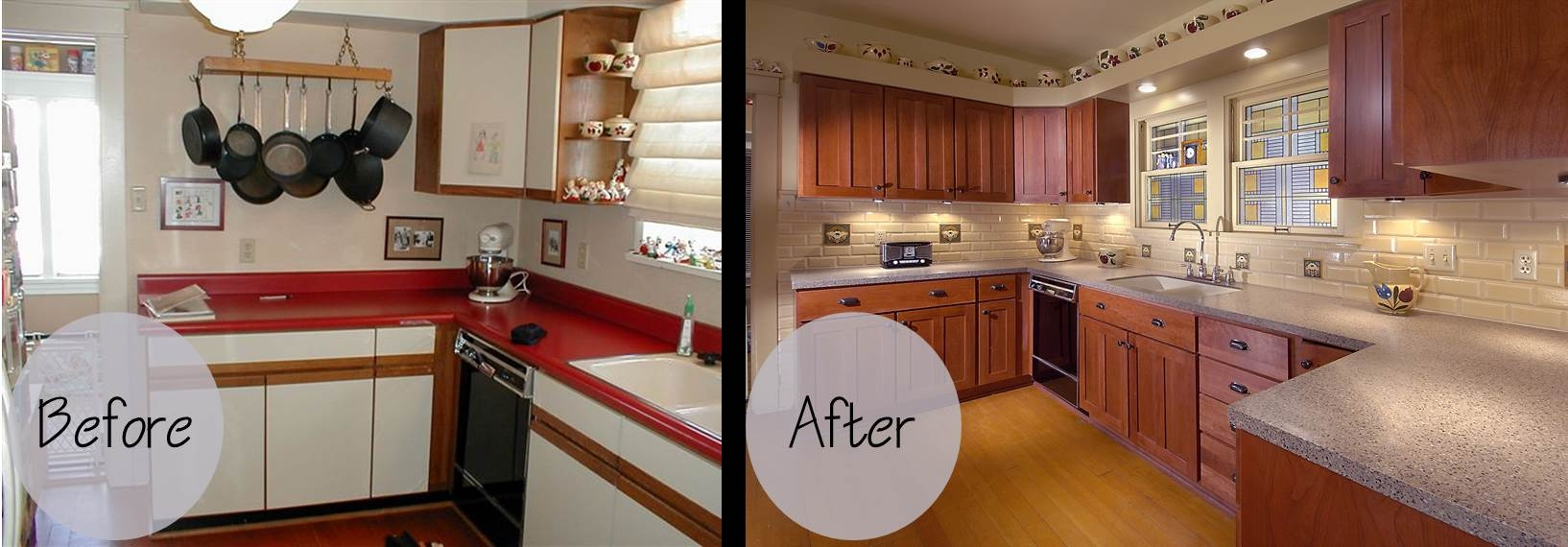 Bathroom Cabinet Refacing Before And After