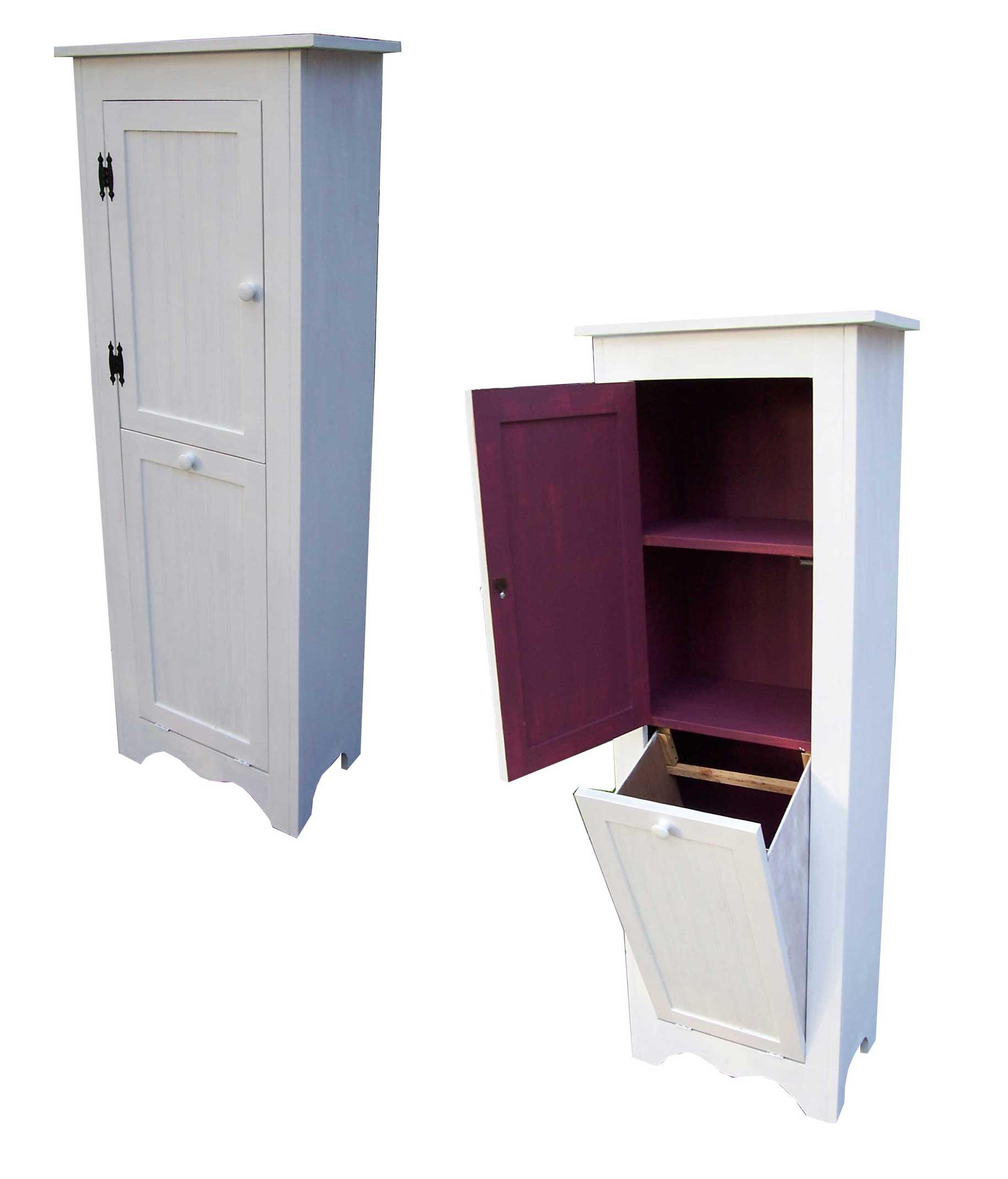 Permalink to Bathroom Cabinet With Laundry Bin