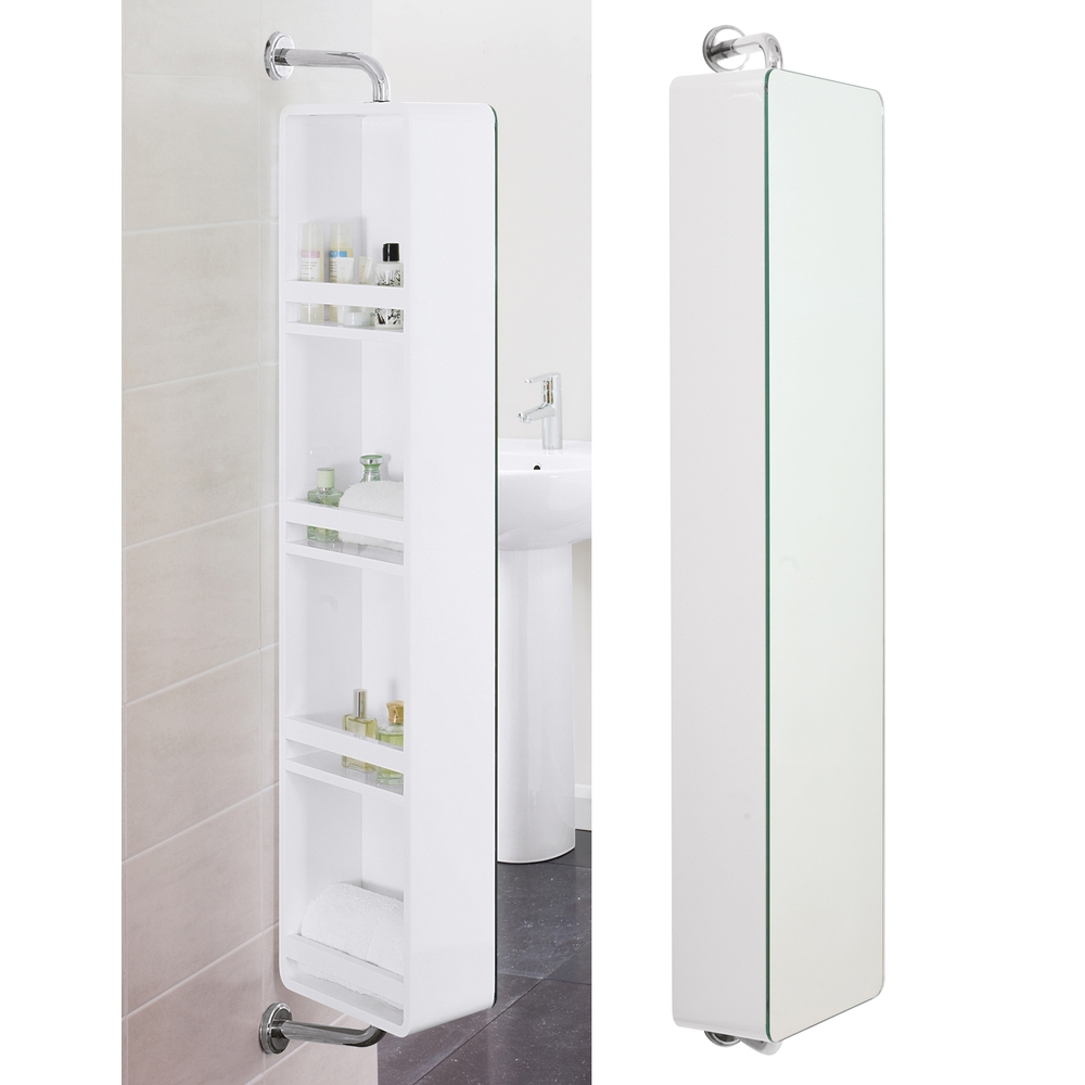 Bathroom Cabinet With Swivel Mirror