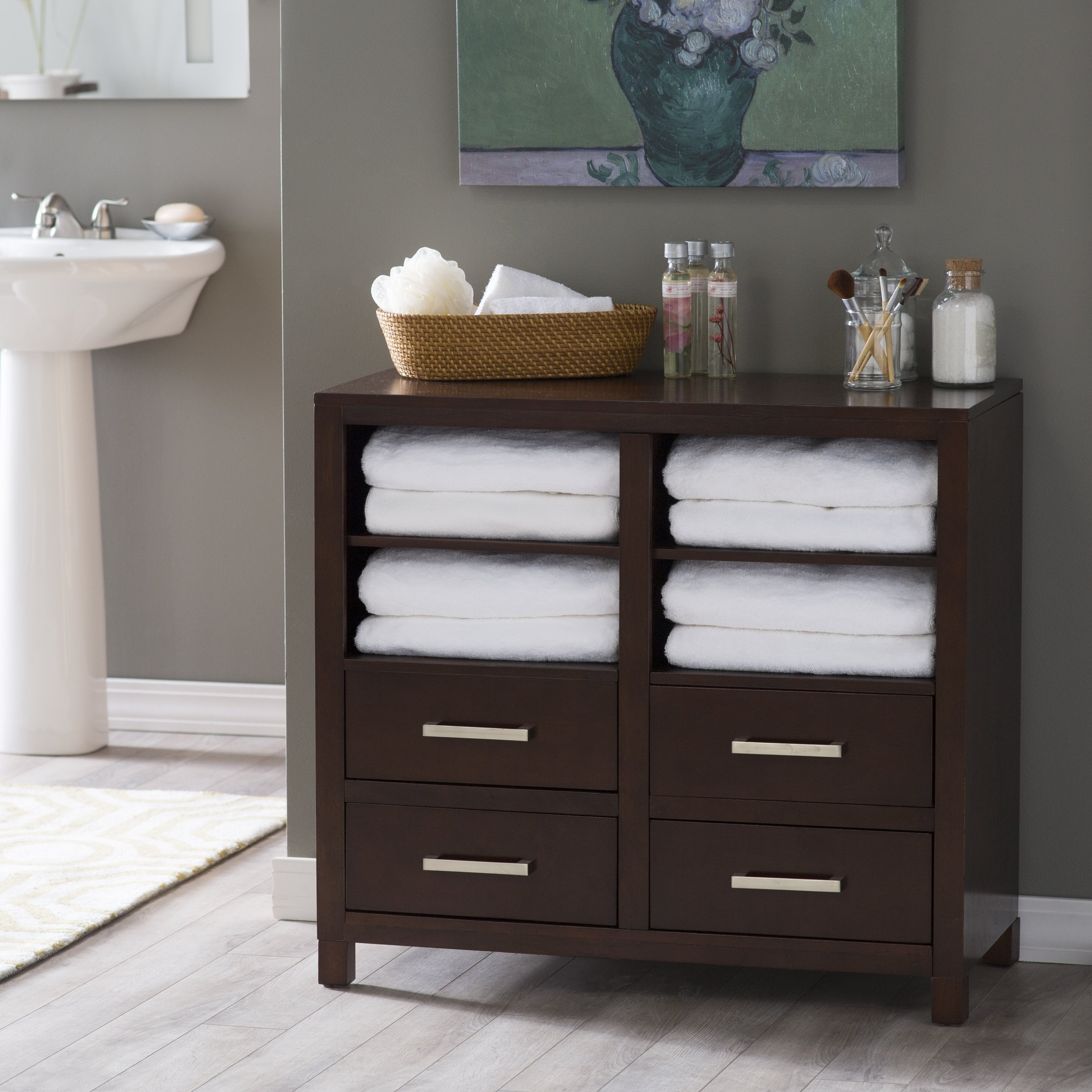 Bathroom Floor Storage Drawers