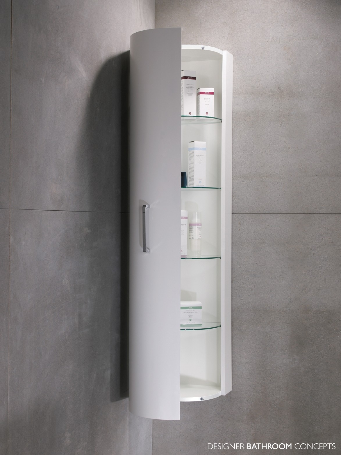 Bathroom Slim Wall Mounted Bath Cabinet