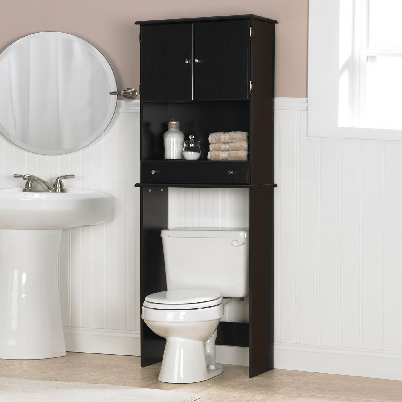 Bathroom Storage Over Toilet Blackblack above the toilet cabinet creative cabinets decoration