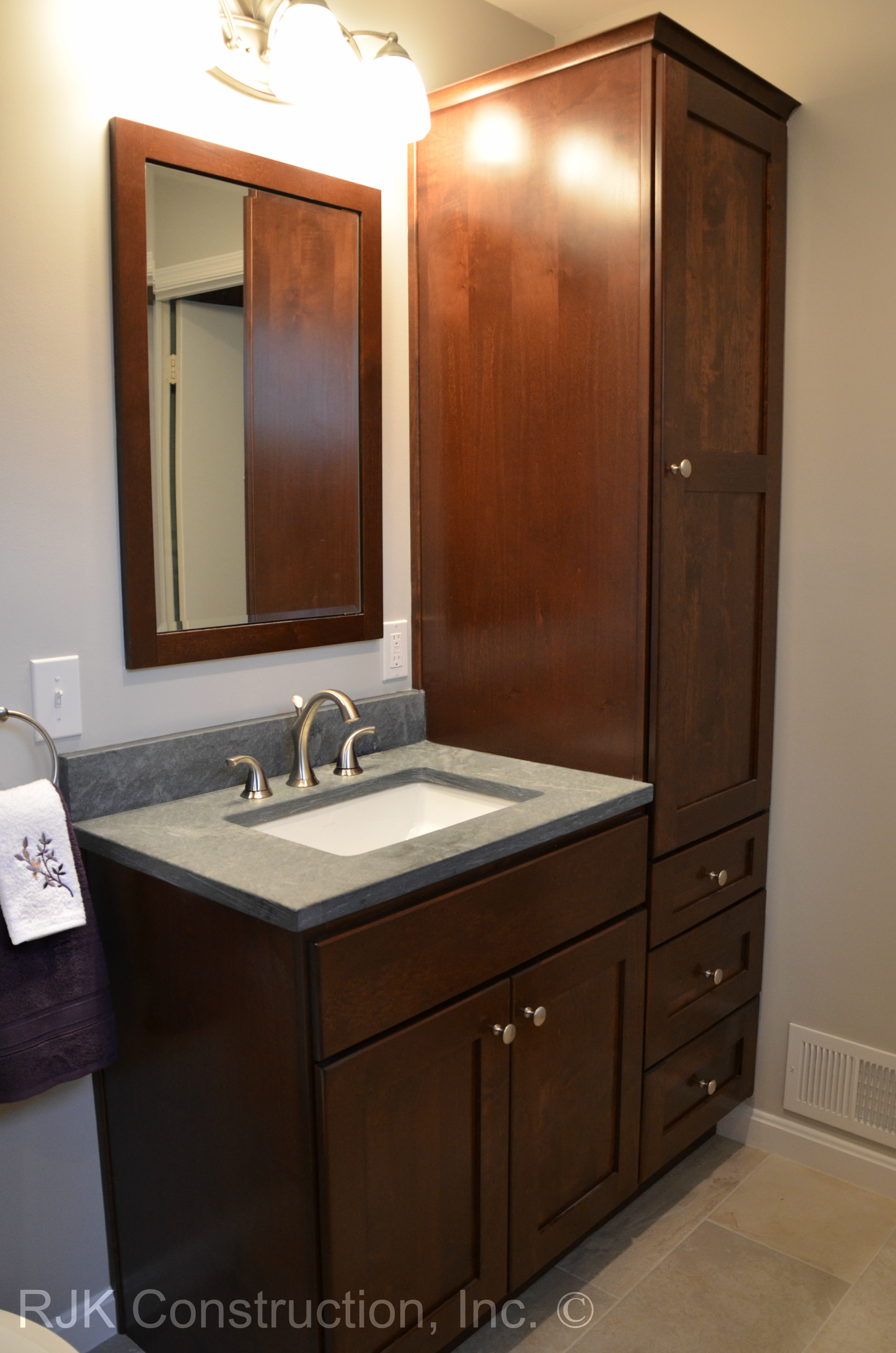 Bathroom Vanity And Tall Cabinet
