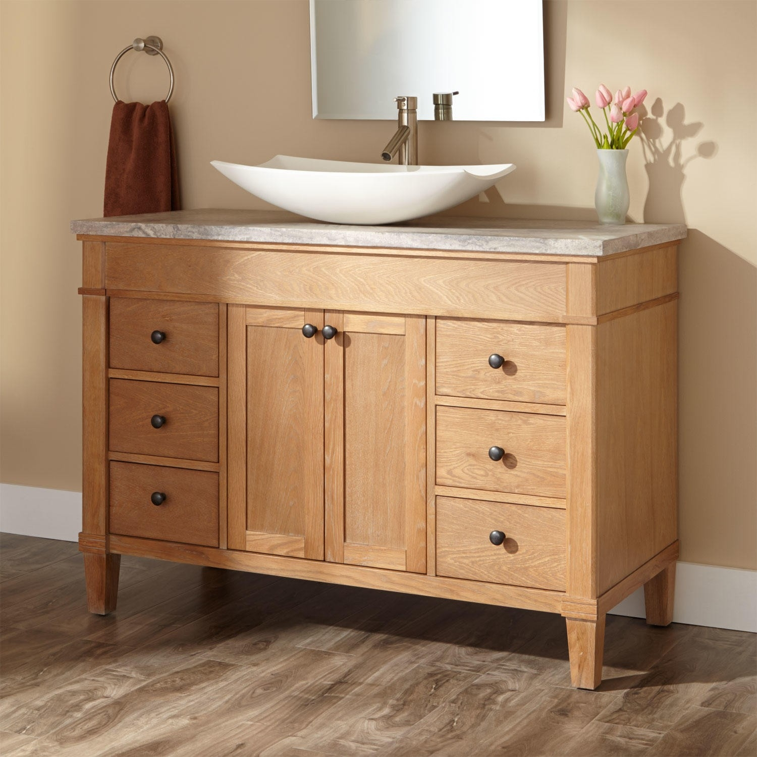 Bathroom Vessel Sink And Cabinet