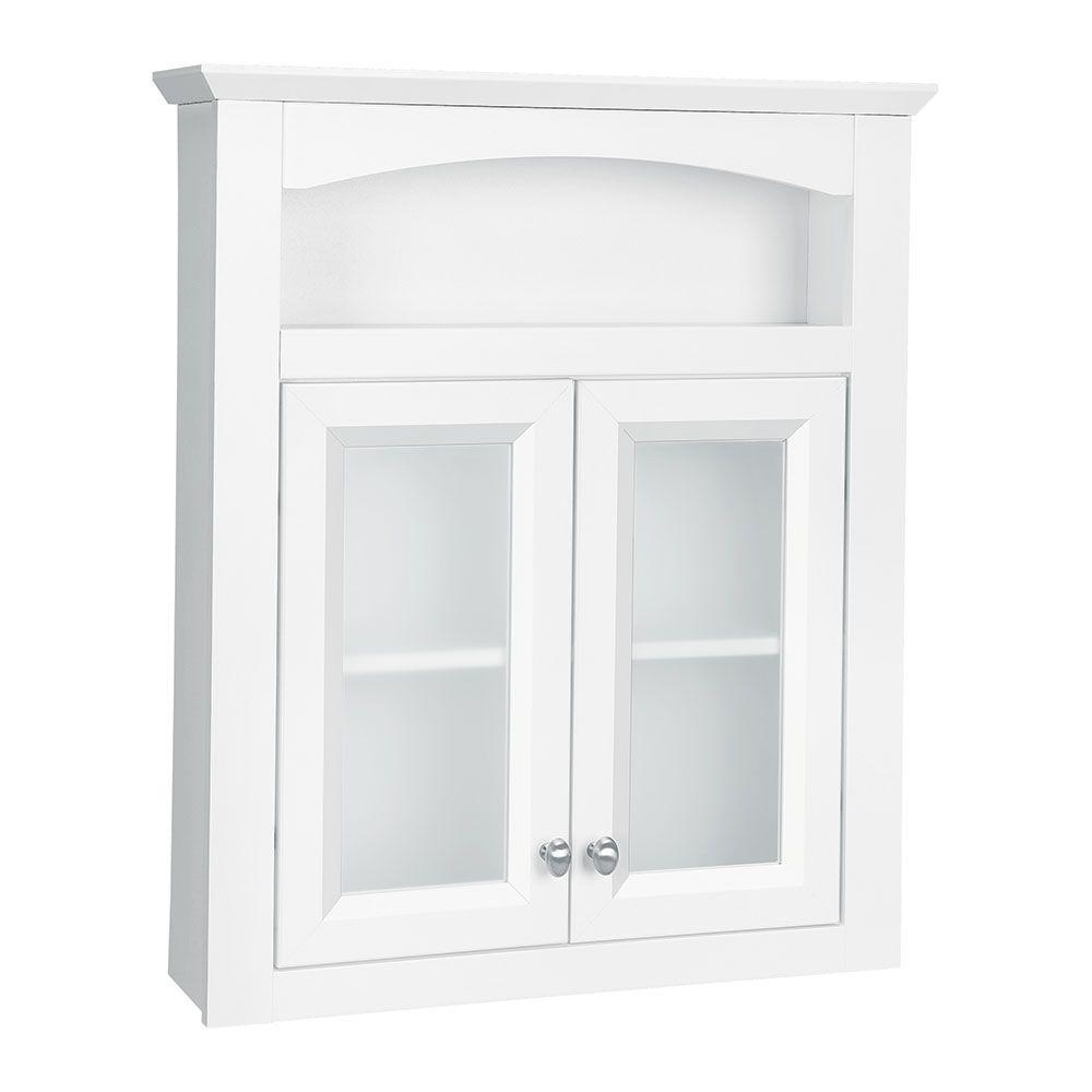 Bathroom Wall Cabinet With Frosted Glass Doors