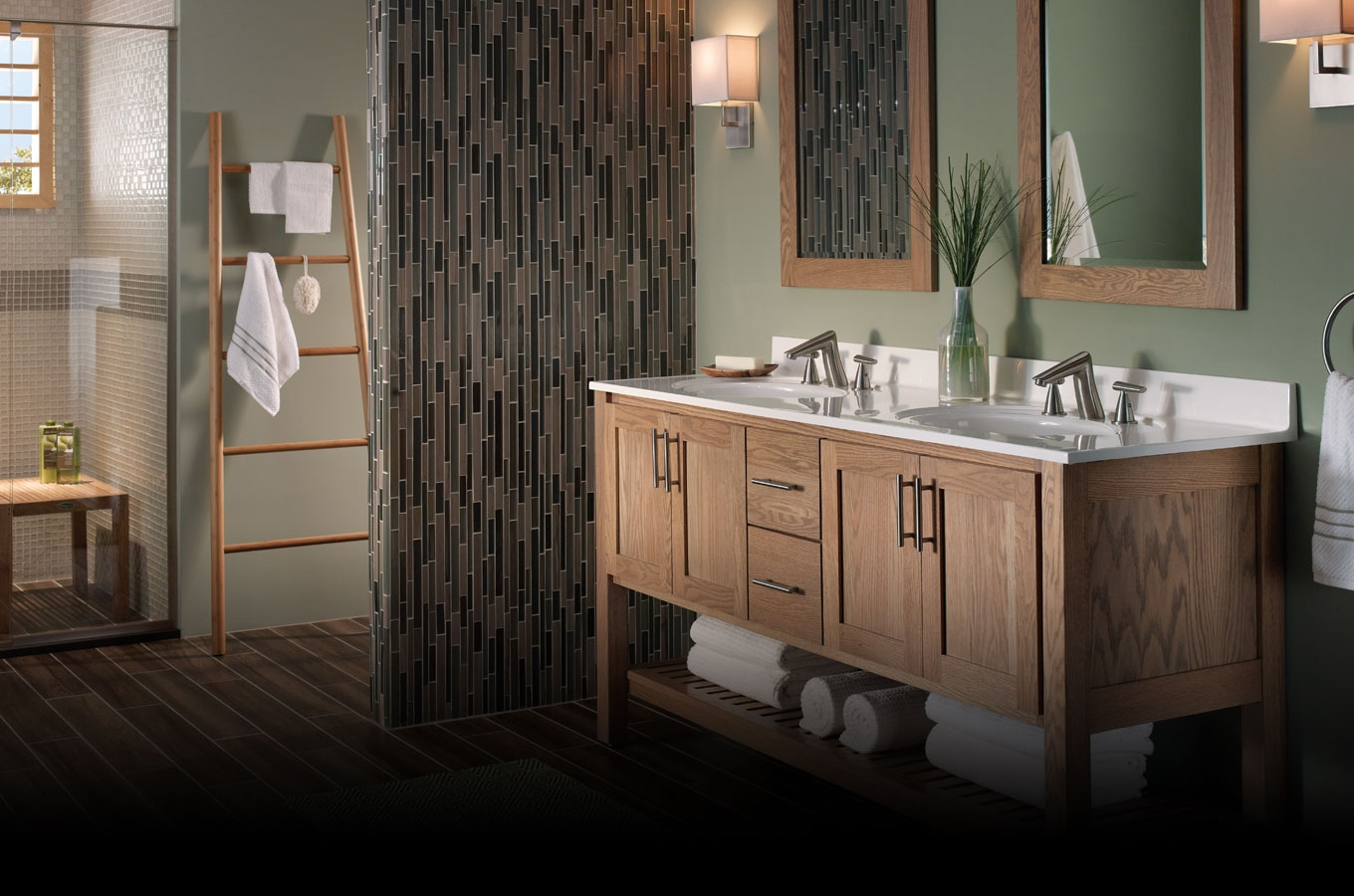Birch Bathroom Cabinets1360 X 900