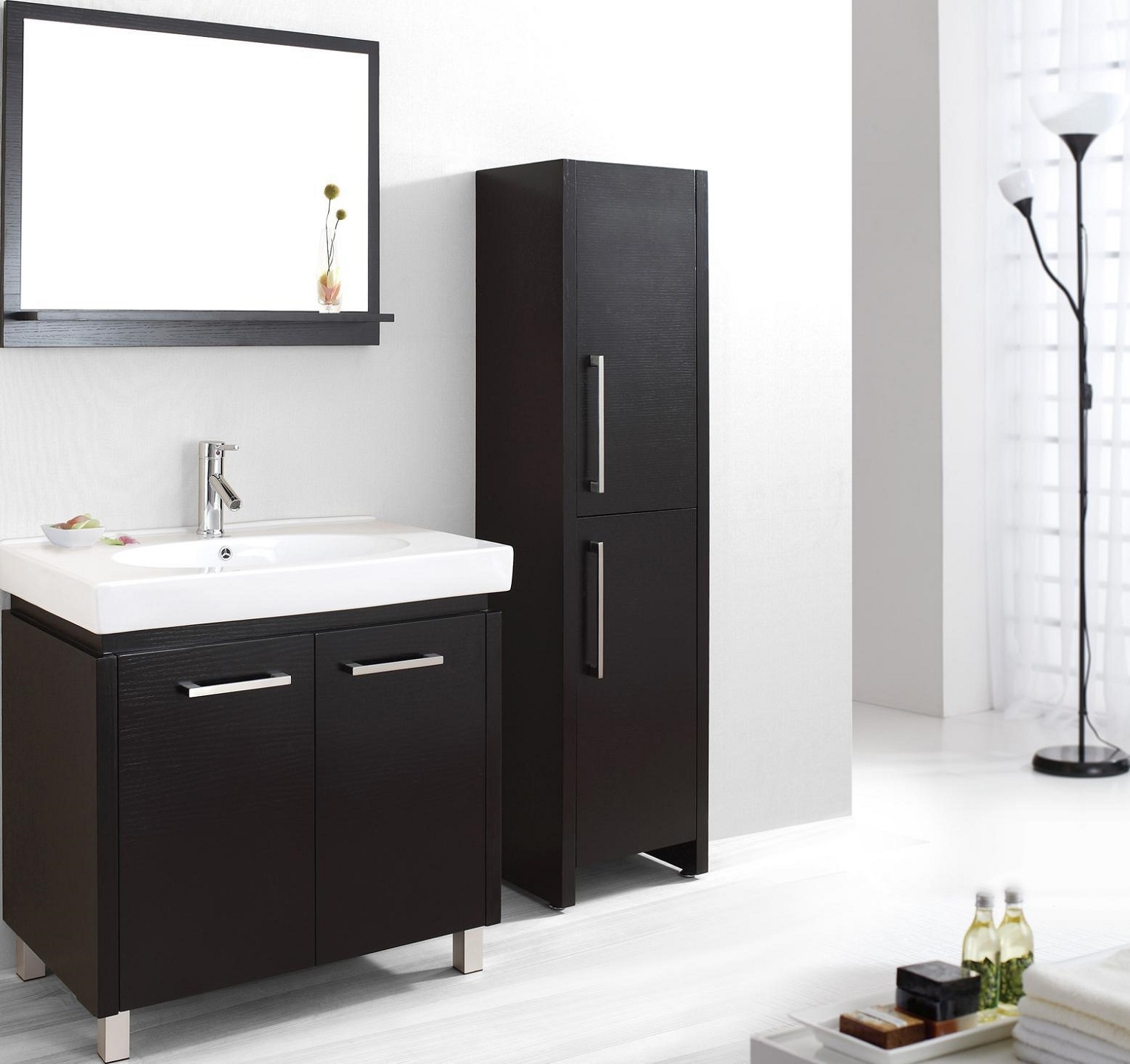 Black Bathroom Cabinets And Storage Units