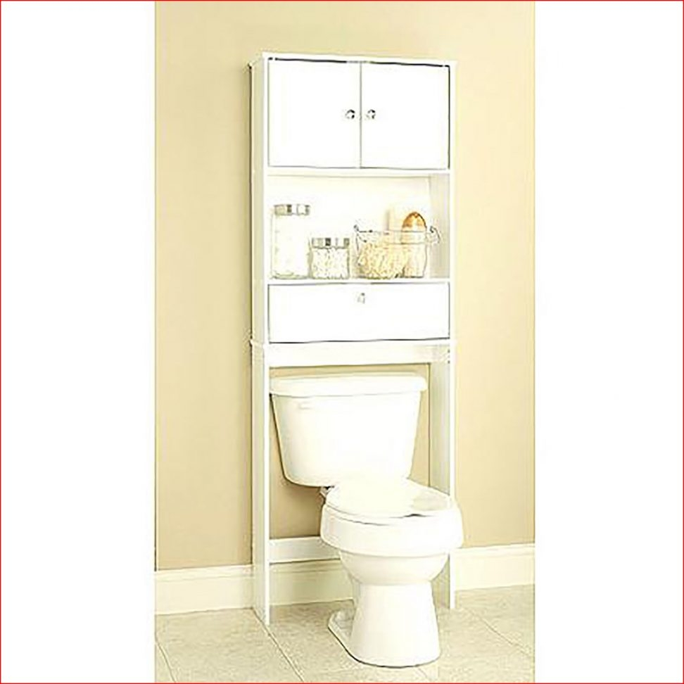 Black Bathroom Space Saver Cabinet With Wheels