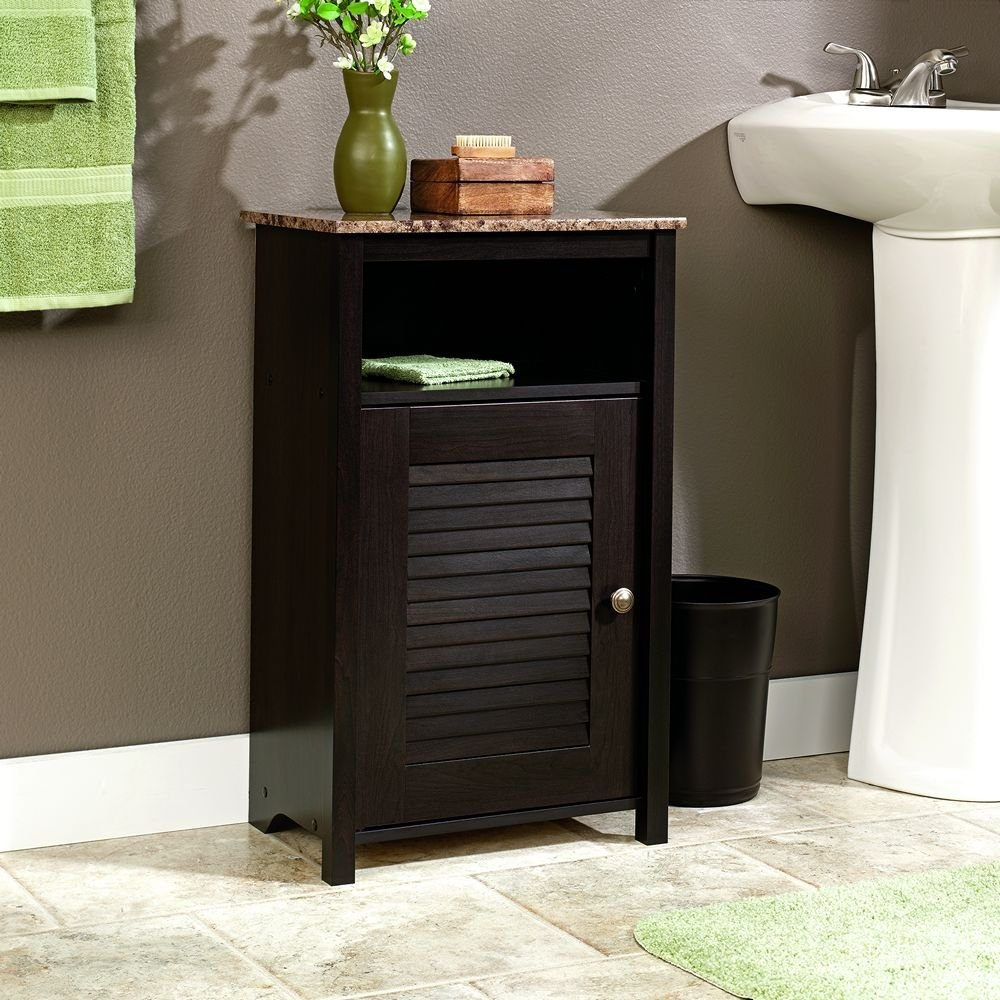 Black Floor Cabinets For Bathrooms