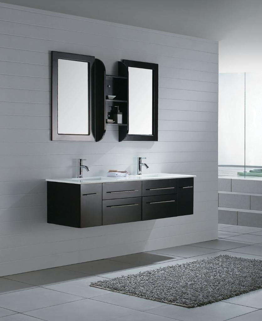 Black Free Standing Bathroom Cabinets