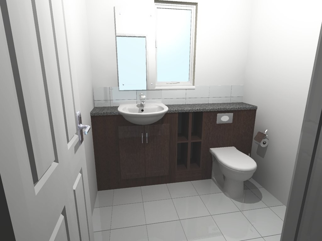 Built In Bathroom Sink And Toilet