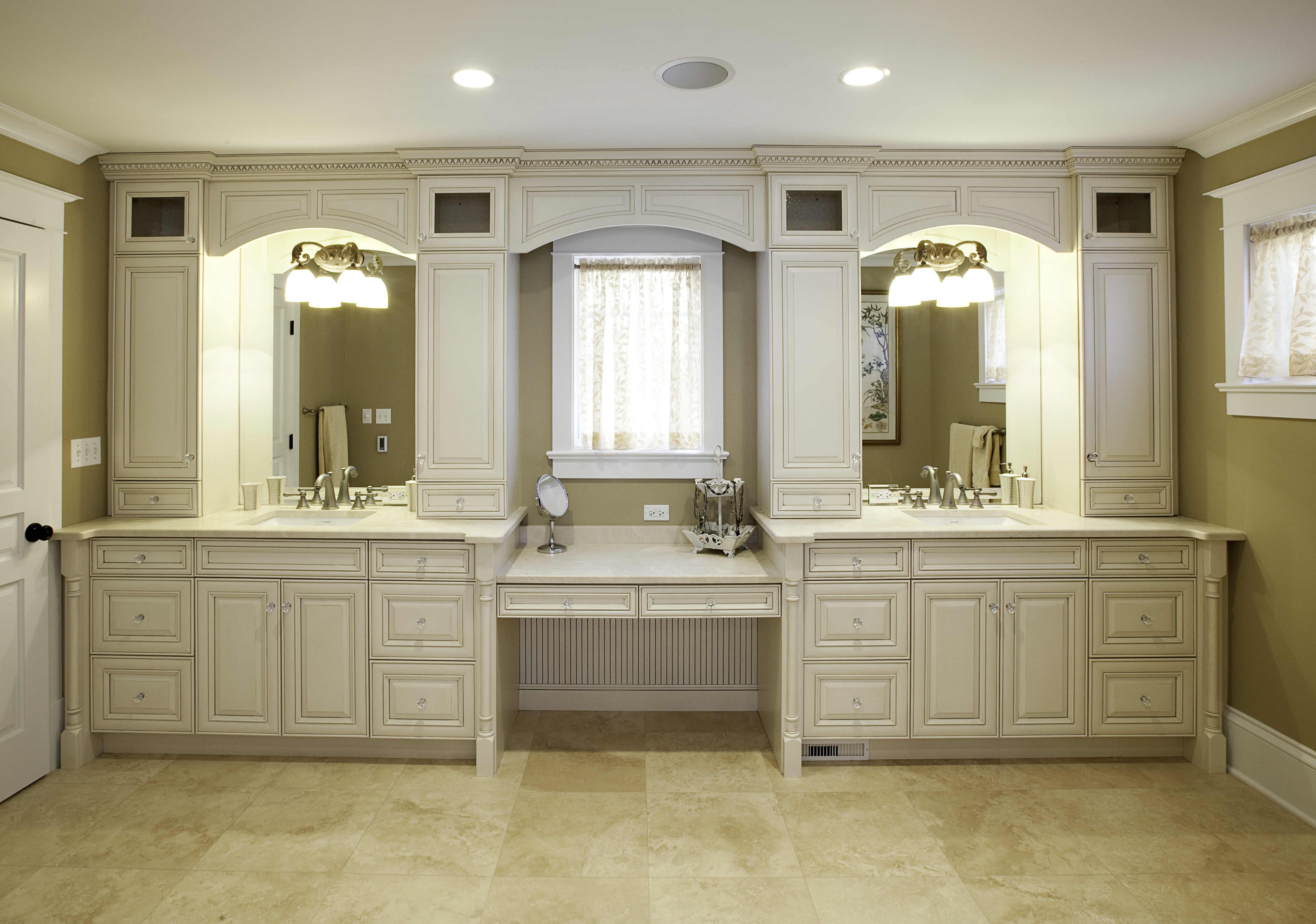 Built In Vanity Cabinets For Bathrooms