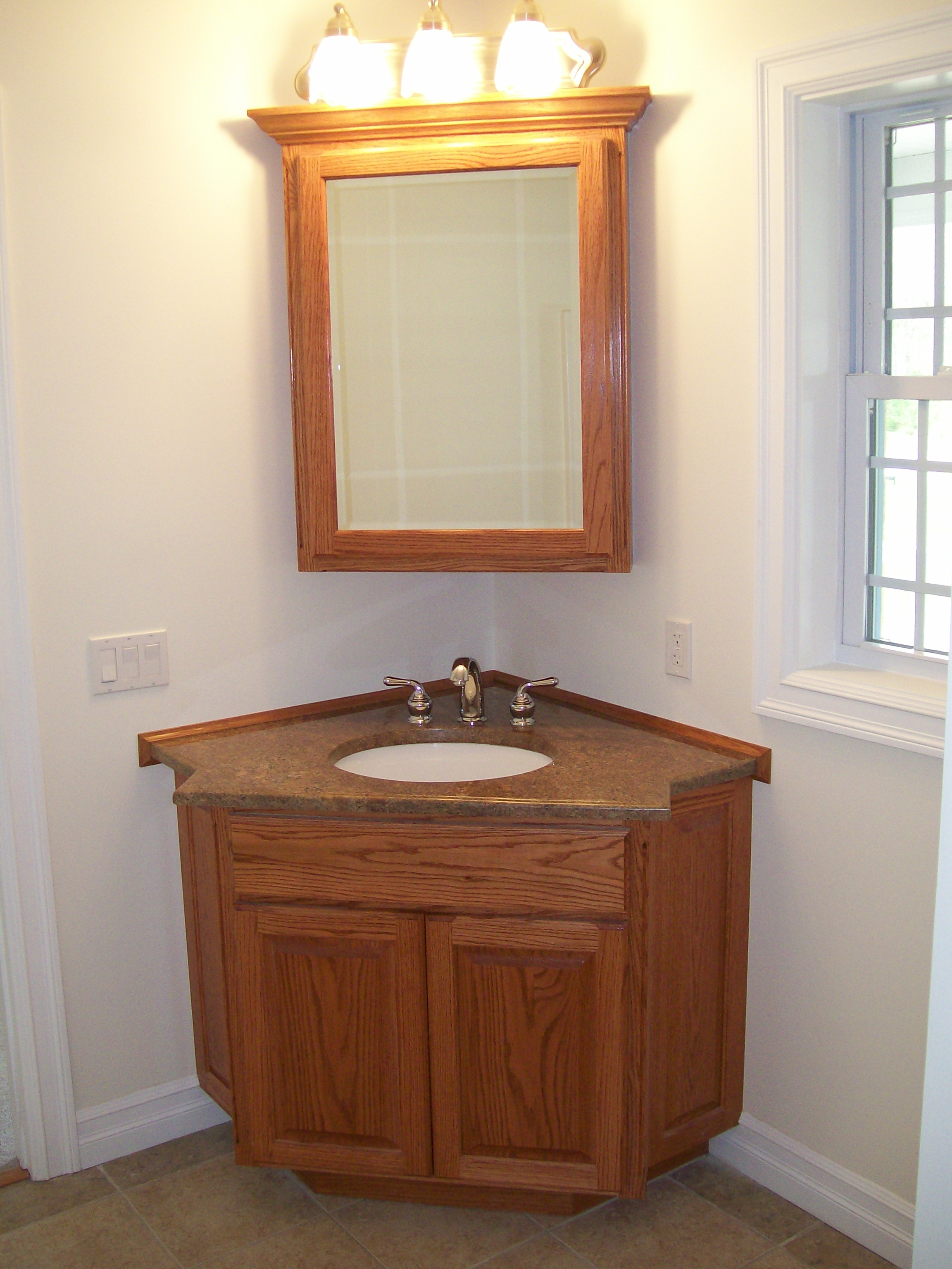 Corner Bathroom Sink Cabinet Lowes
