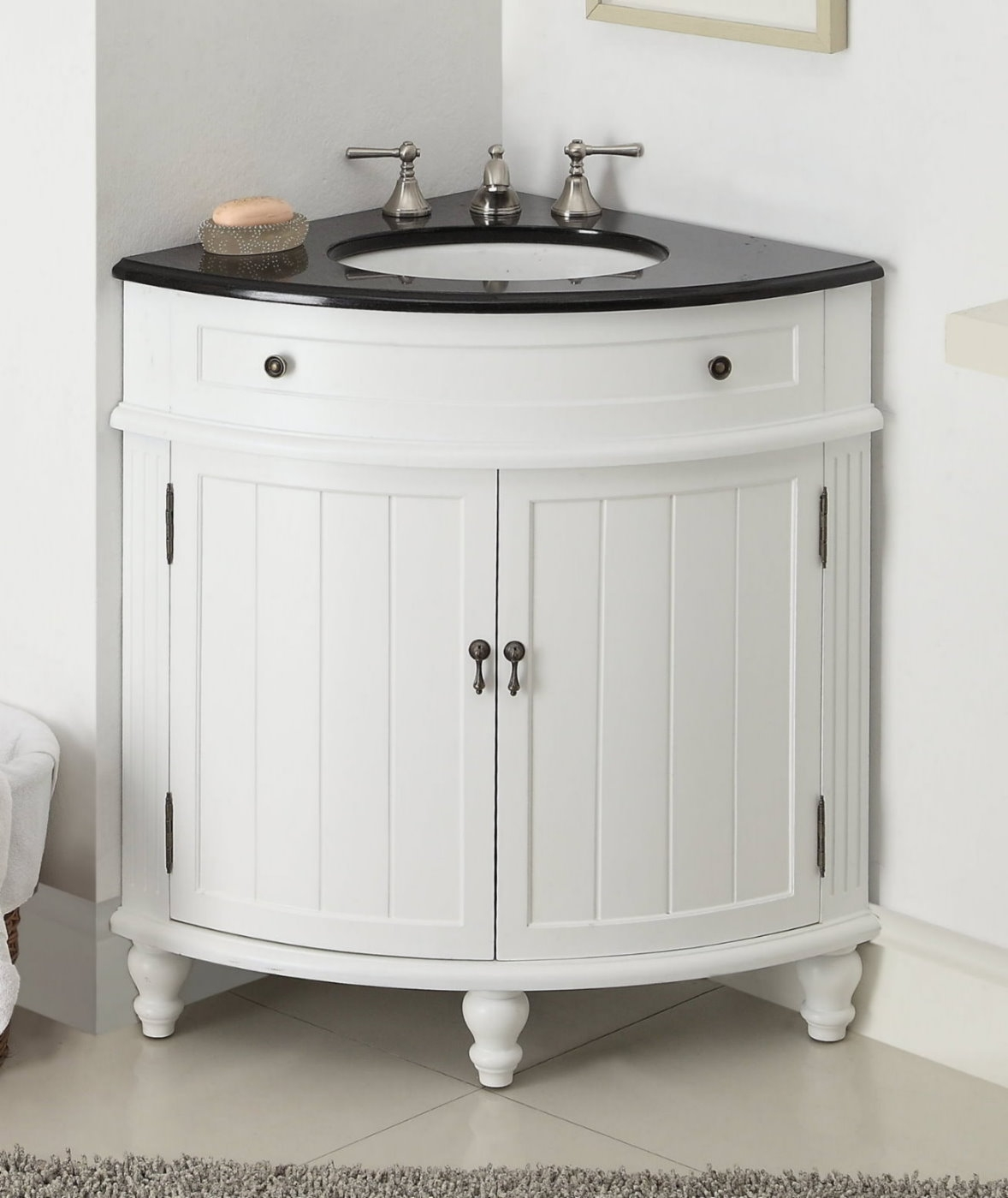 Permalink to Corner Bathroom Sink Cabinet Vanity