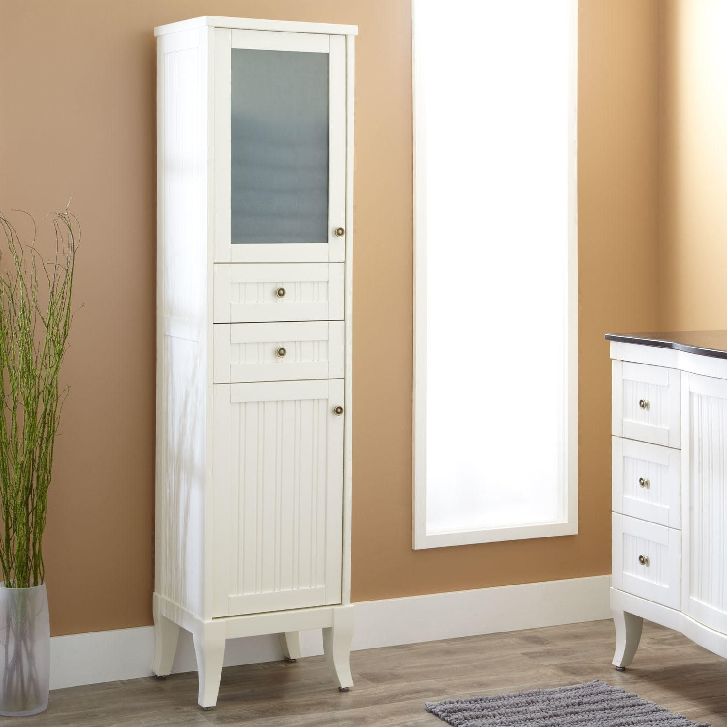Corner Towel Cabinet For Bathroom