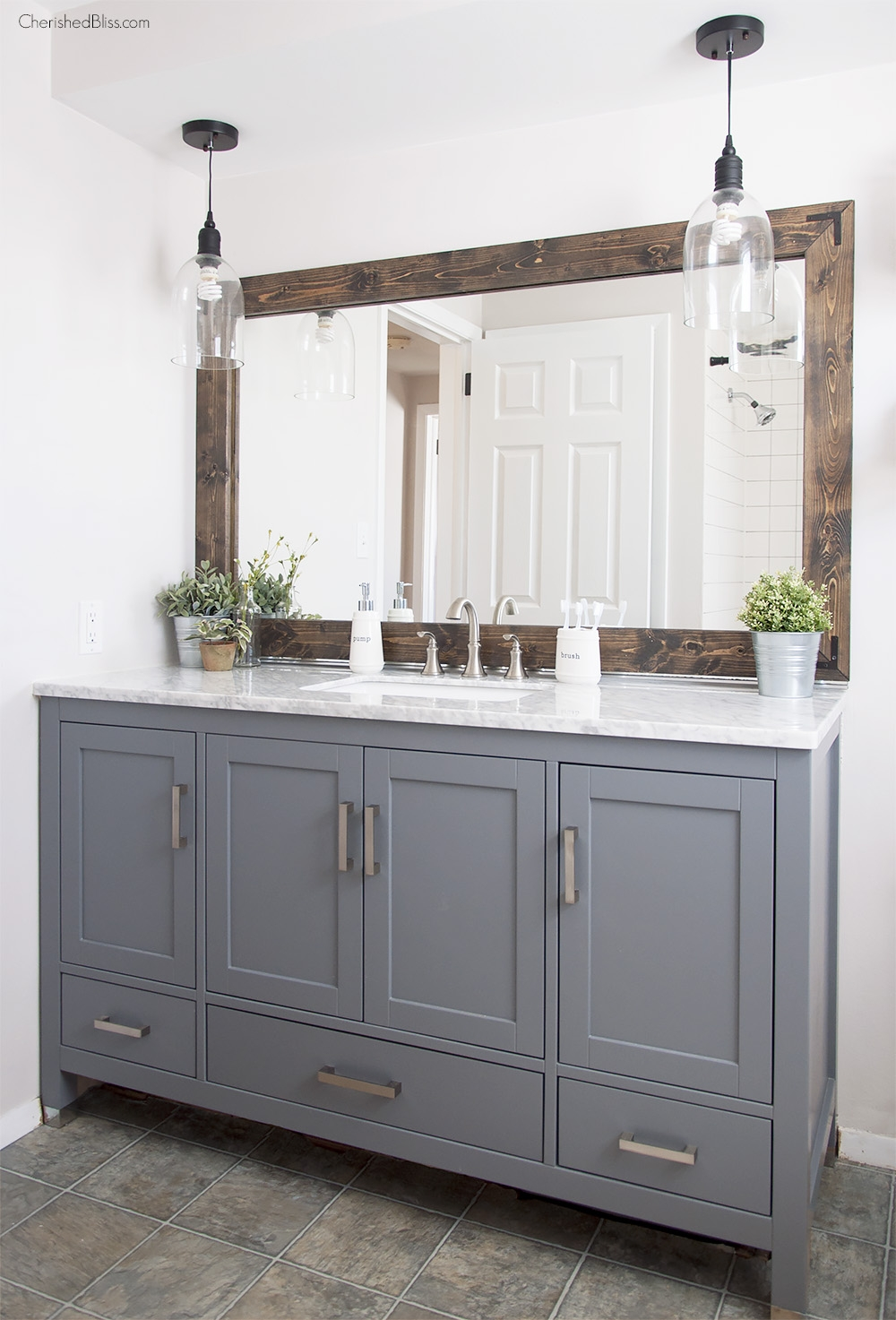 Farmhouse Bathroom Vanity Mirror