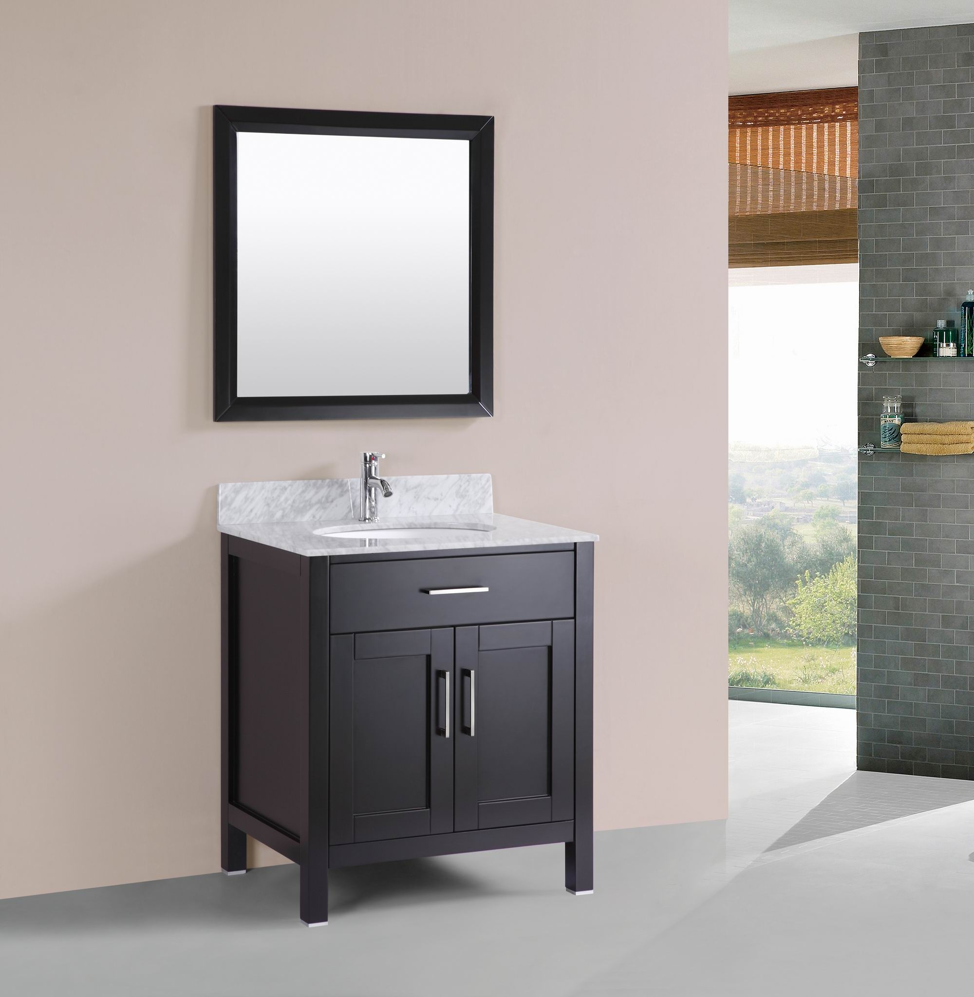 Free Standing Bathroom Cabinet With Marble Top