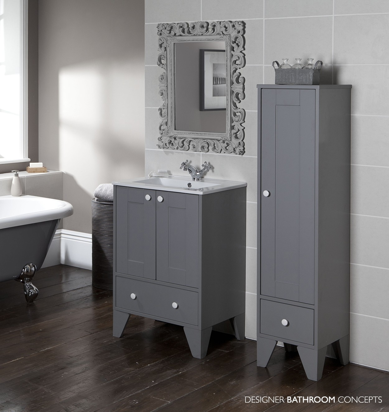 Free Standing Bathroom Cabinets Grey