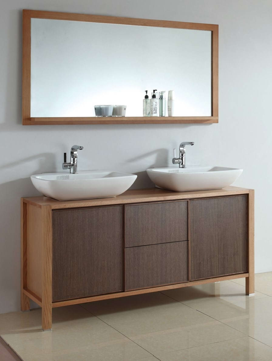 Horizontal Mirrored Bathroom Cabinets