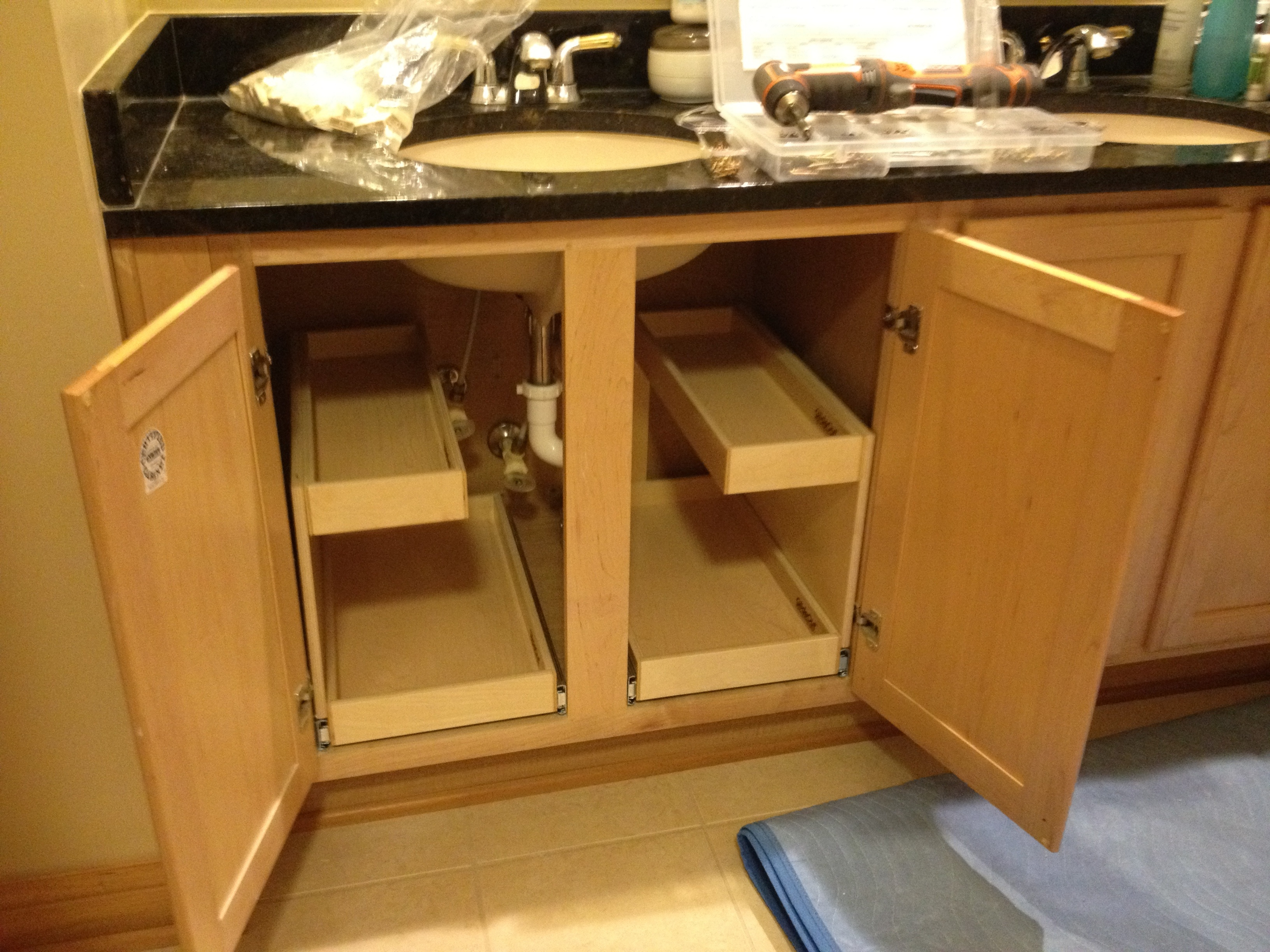 Kitchen & Bathroom Cabinet Pull-Out Drawer Organizers
