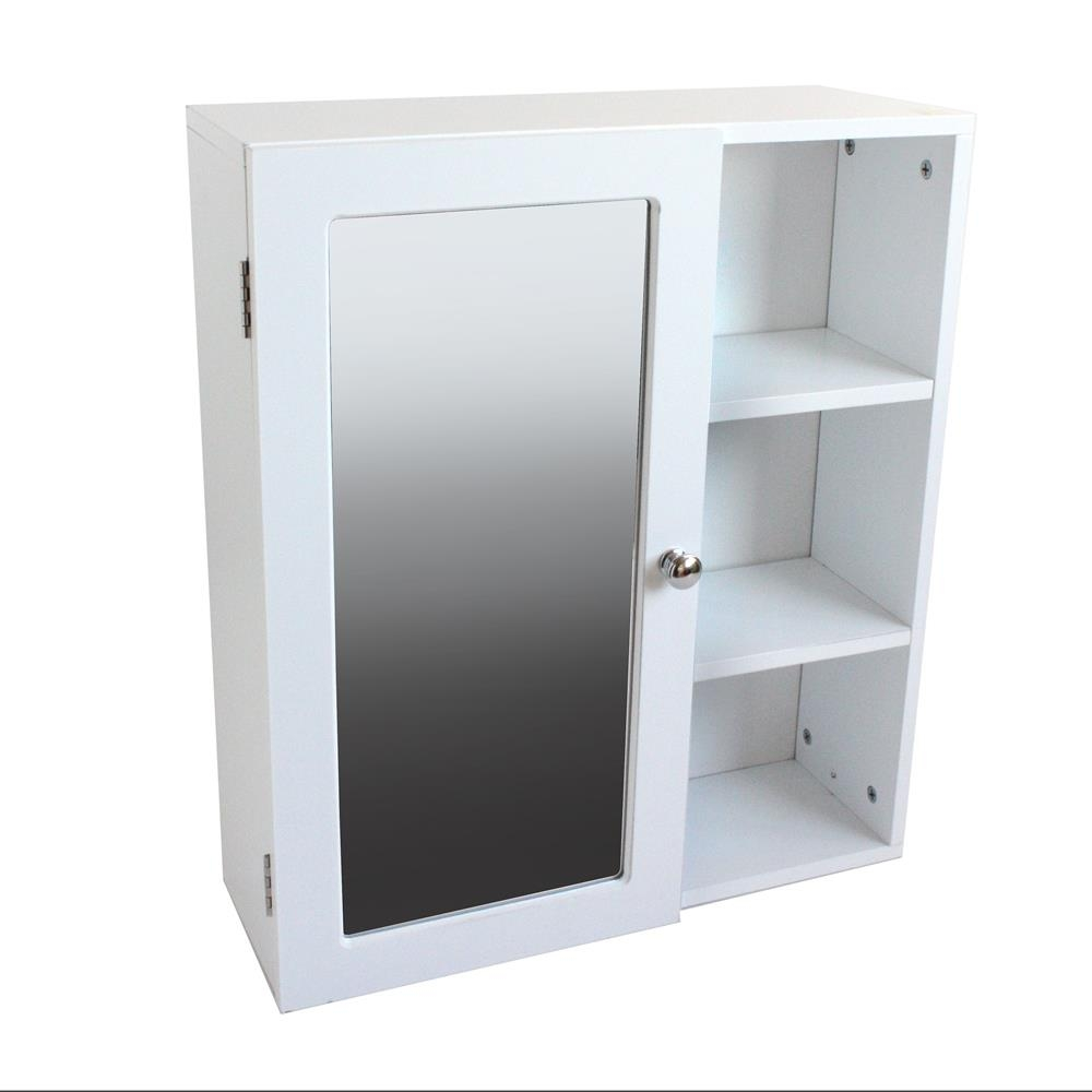 Mirrored Free Standing Bathroom Cabinet