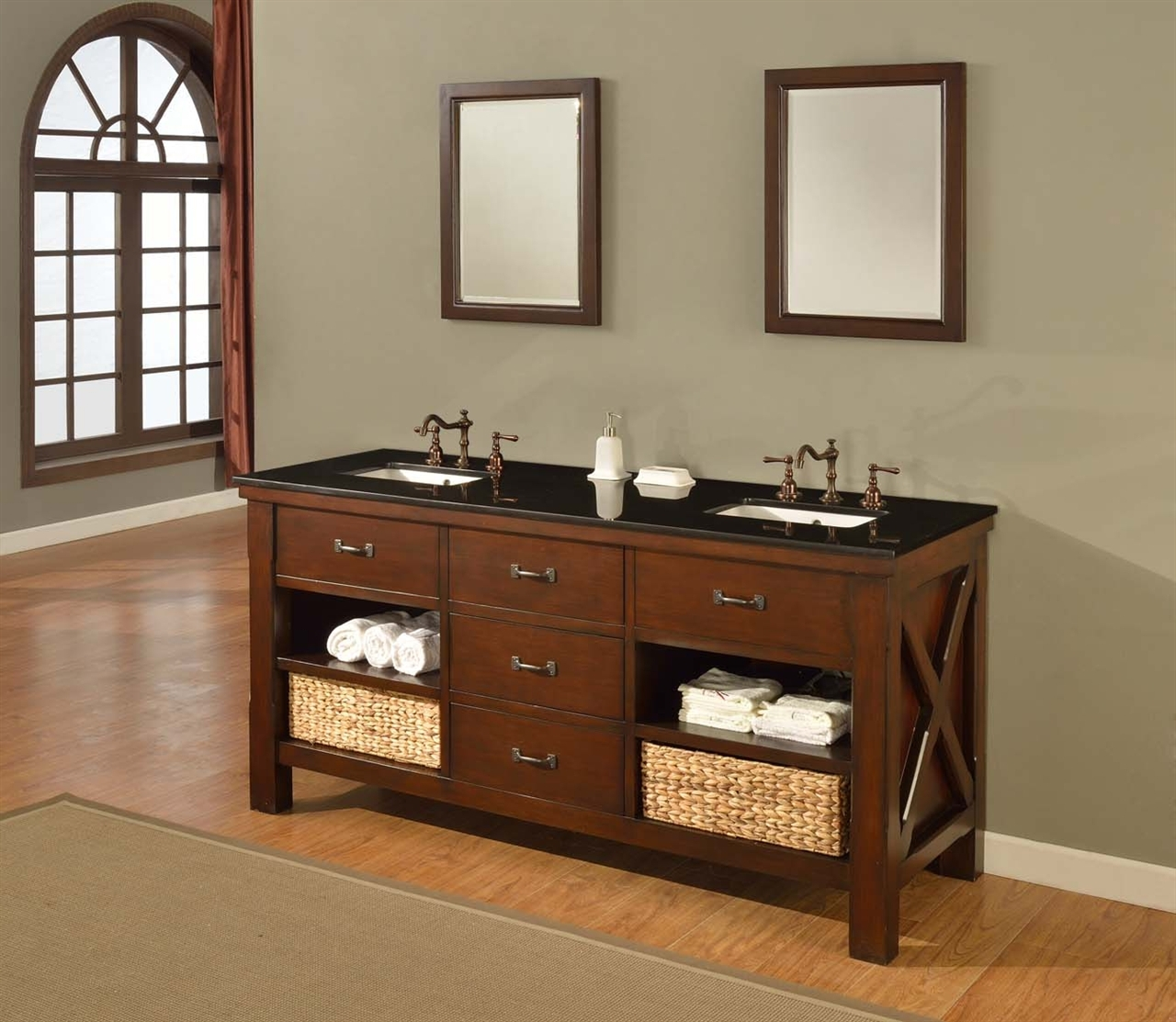 Mission Style Bathroom Vanity Cabinets