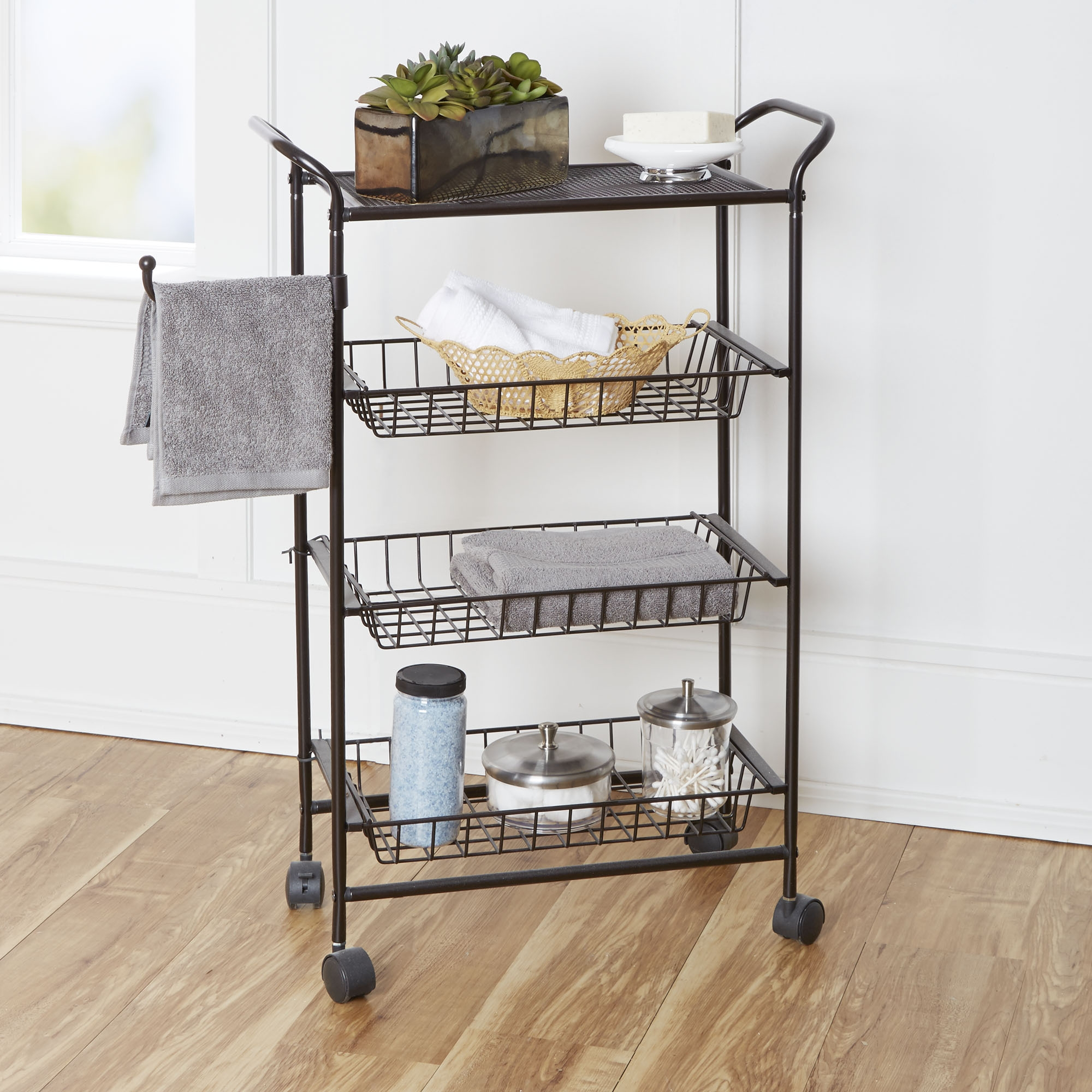 Narrow Bathroom Storage Cart