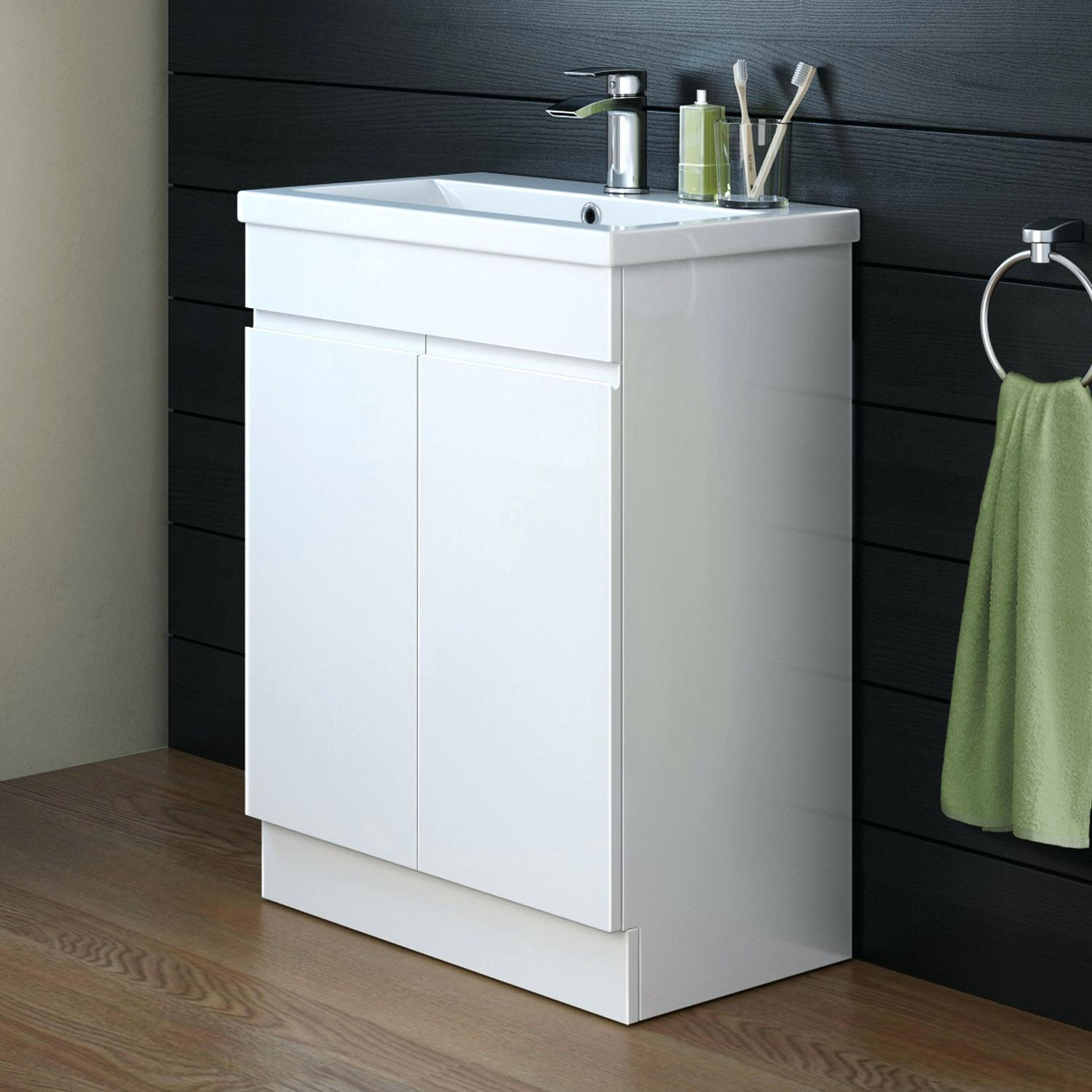 Newquay Narrow Floor Standing Bathroom Cabinet