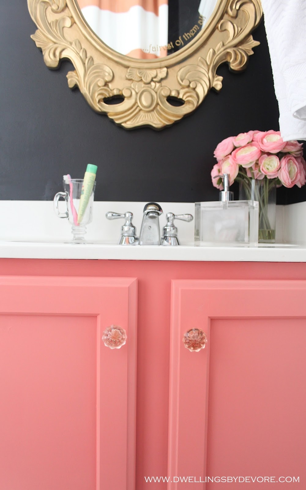 Pink Bathroom Cabinets