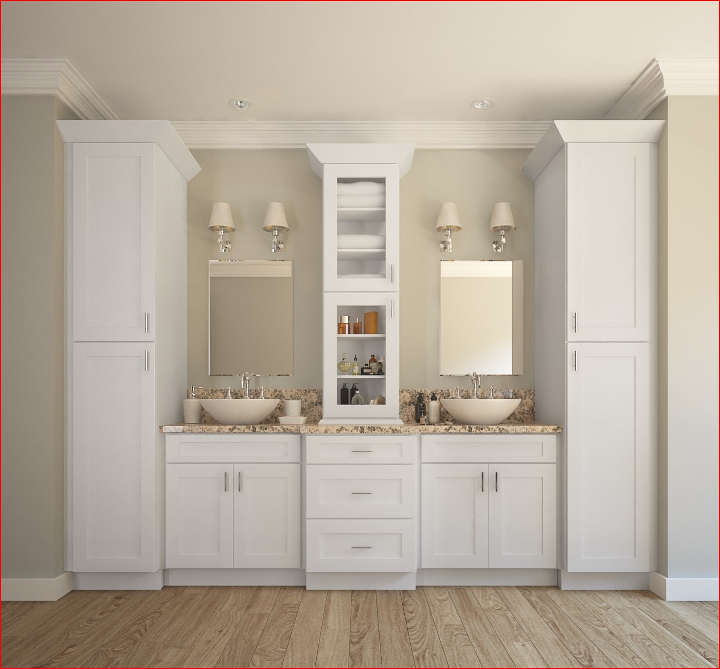 Ready Assembled Tall Bathroom Cabinets1400 X 1300