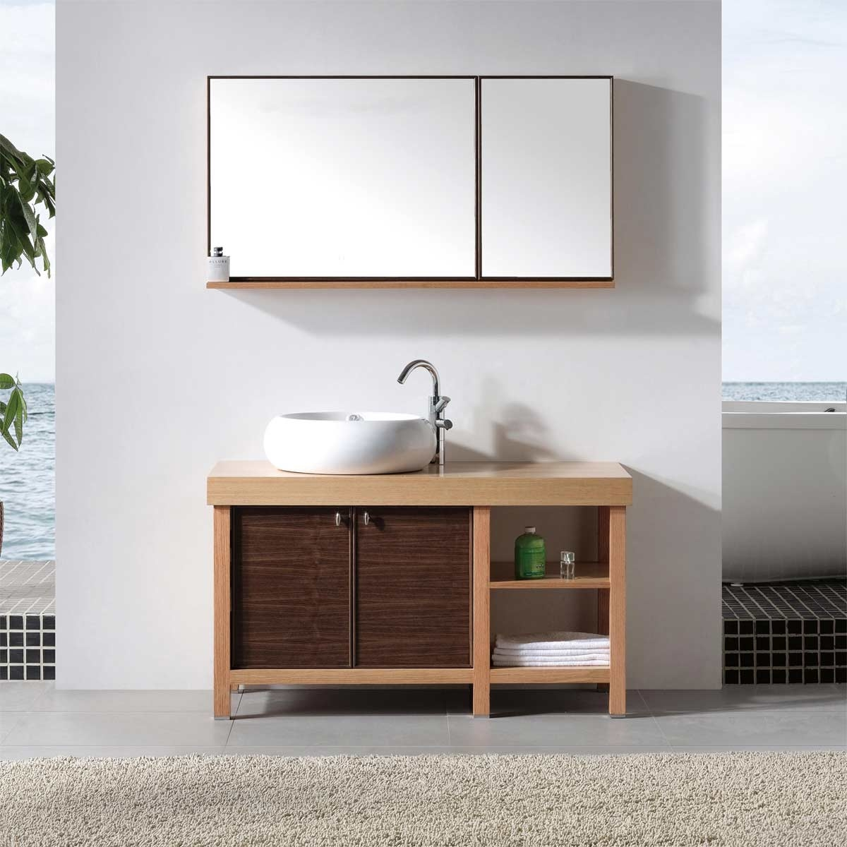 Real Wood Bathroom Furniture