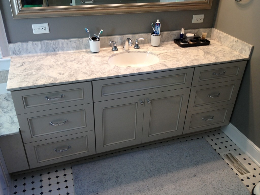 Refinish Bathroom Vanity With Stain