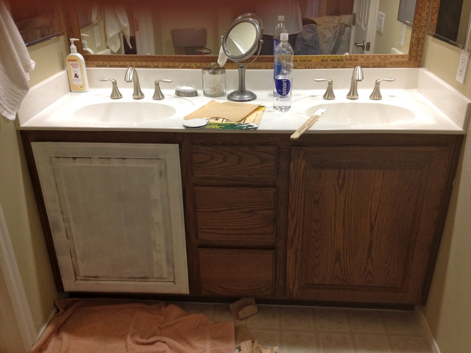 Refinishing Bathroom Wood Cabinets