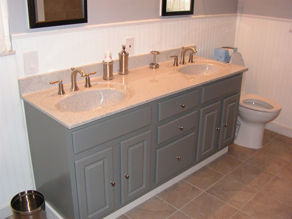 Restain Bathroom Cabinets