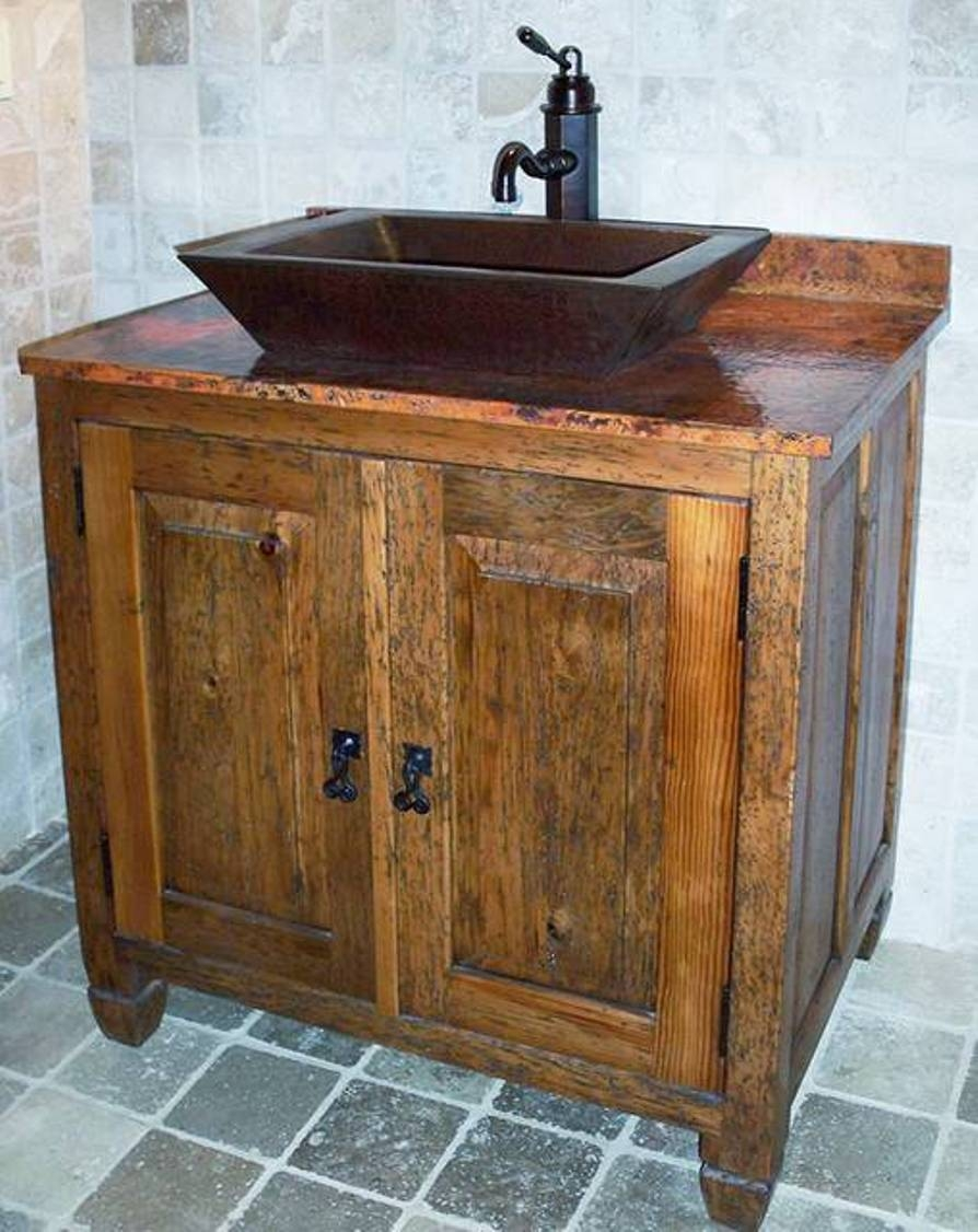 Rustic Bathroom Vanities For Vessel Sinks