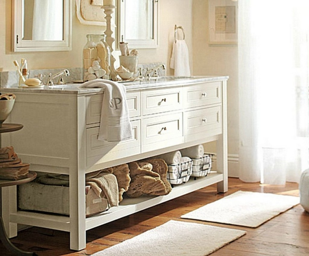 Shabby Chic Bathroom Cabinet With Mirror