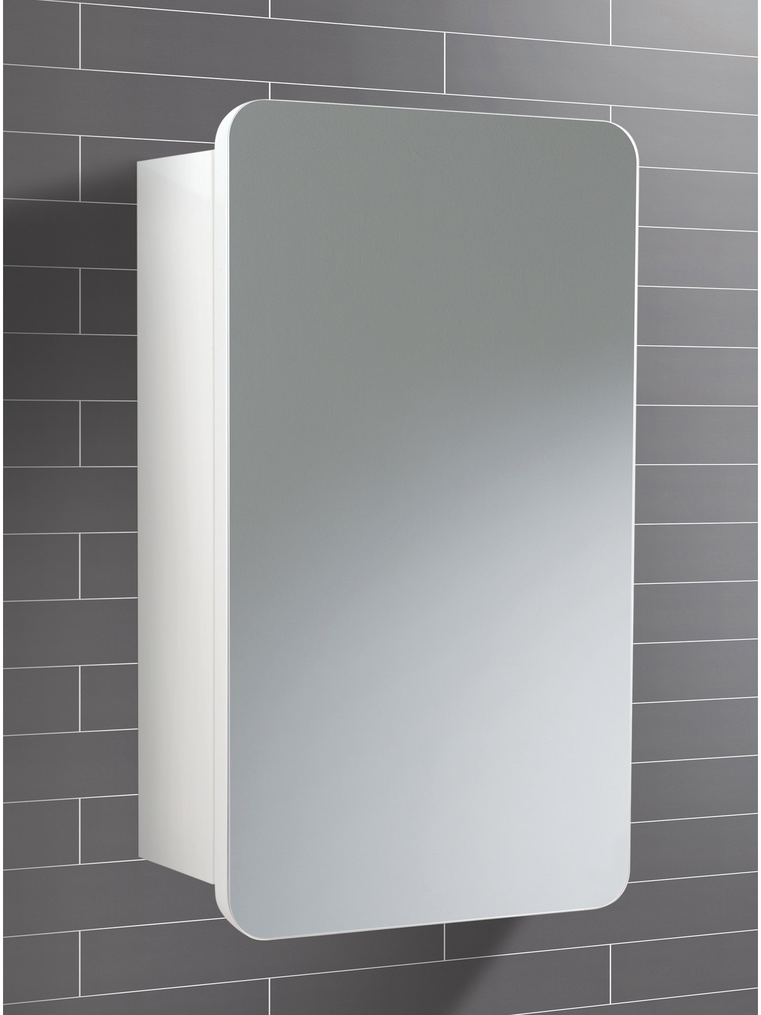 Single Door Mirrored Bathroom Cabinet