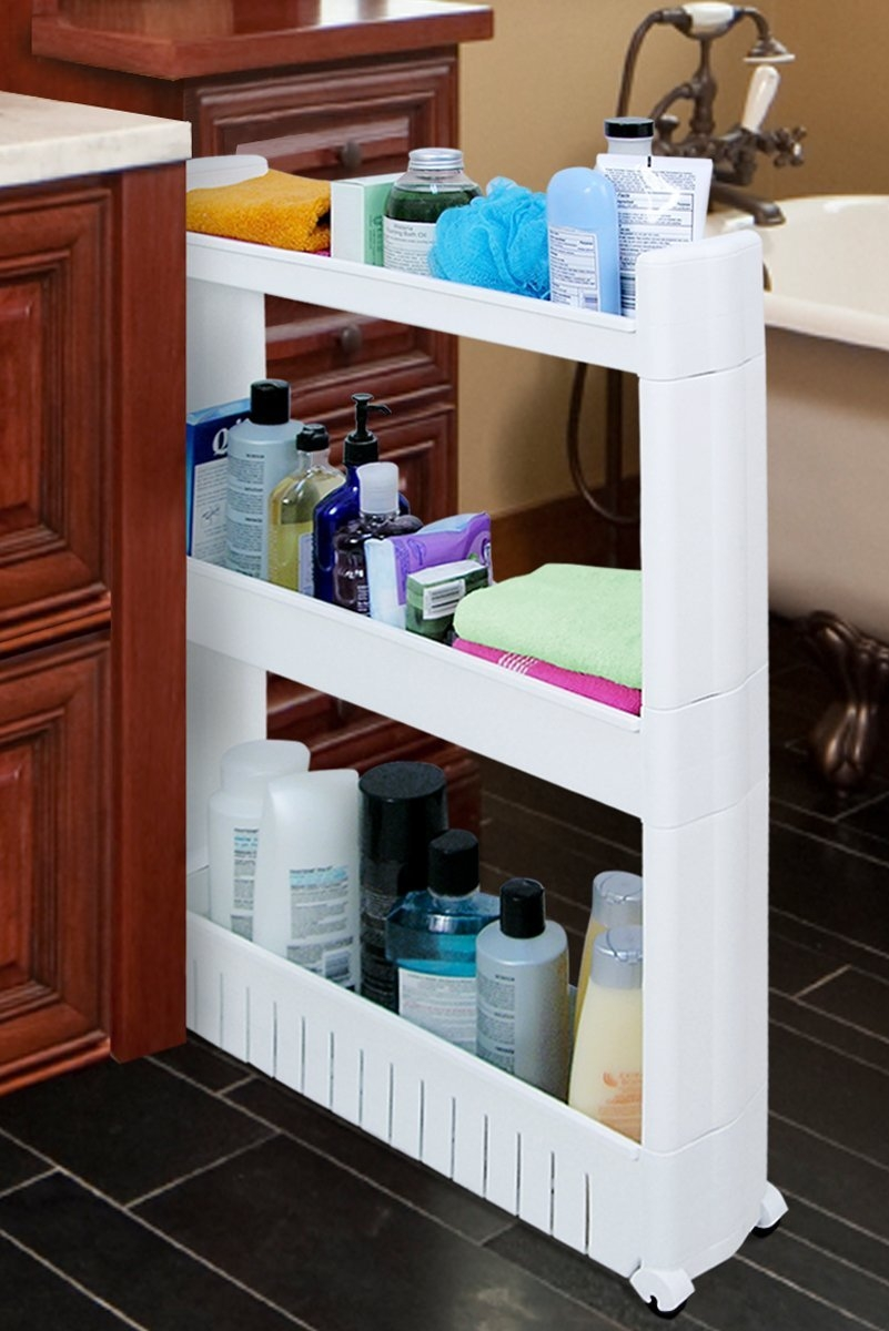 Slim Bathroom Storage Tower