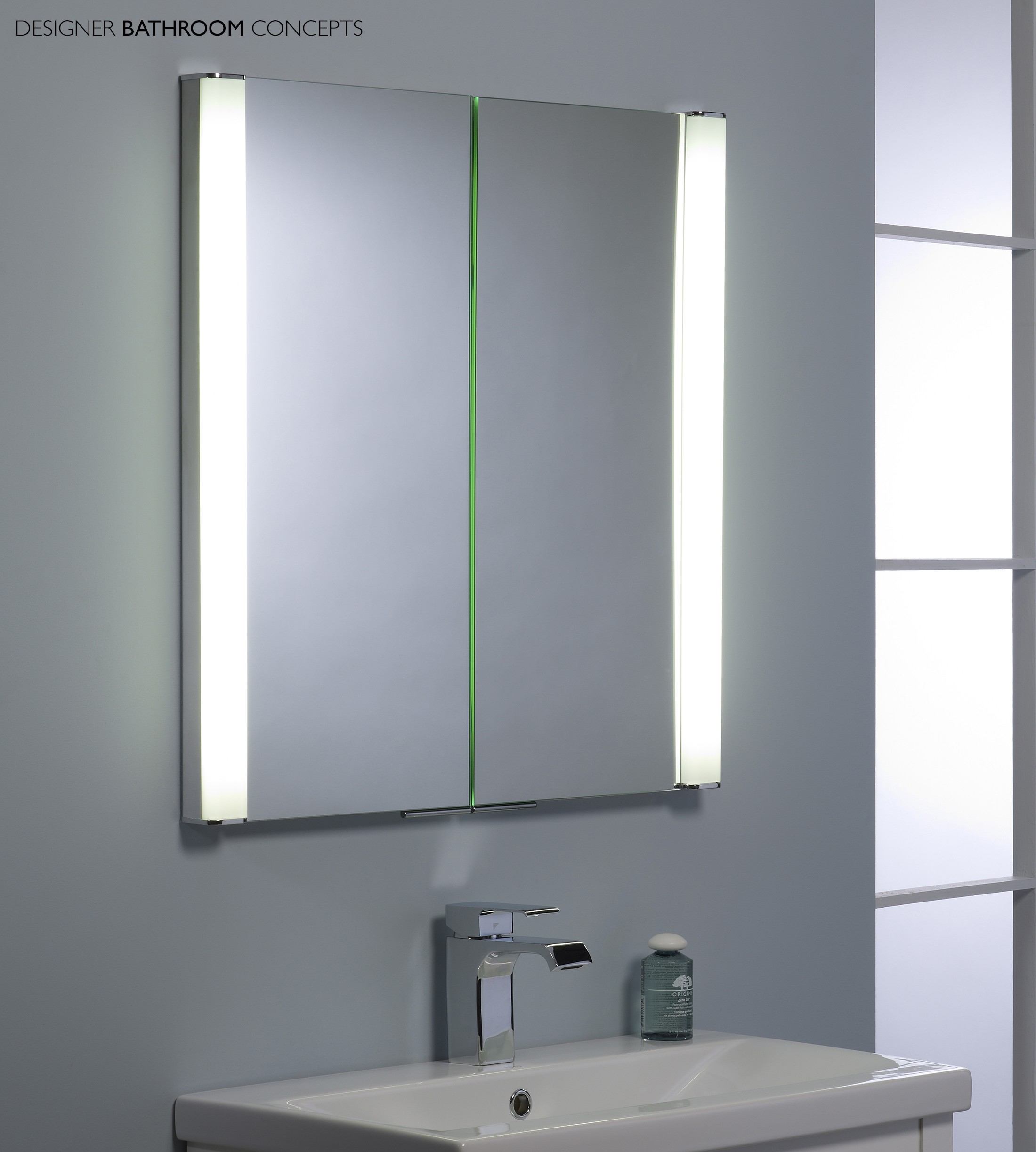Slimline Bathroom Cabinet With Light