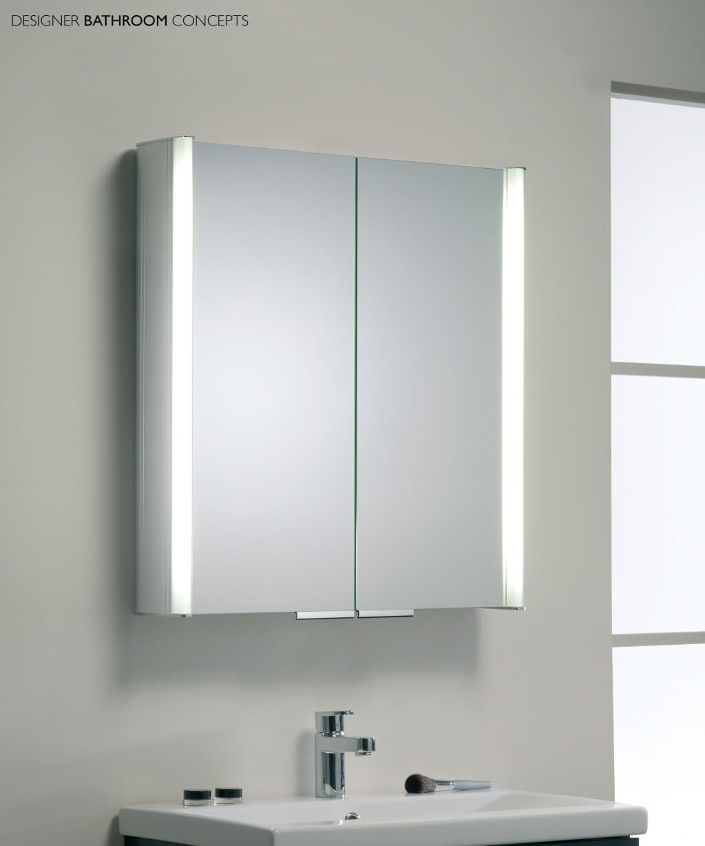 Slimline Bathroom Cabinet With Shaver Socket