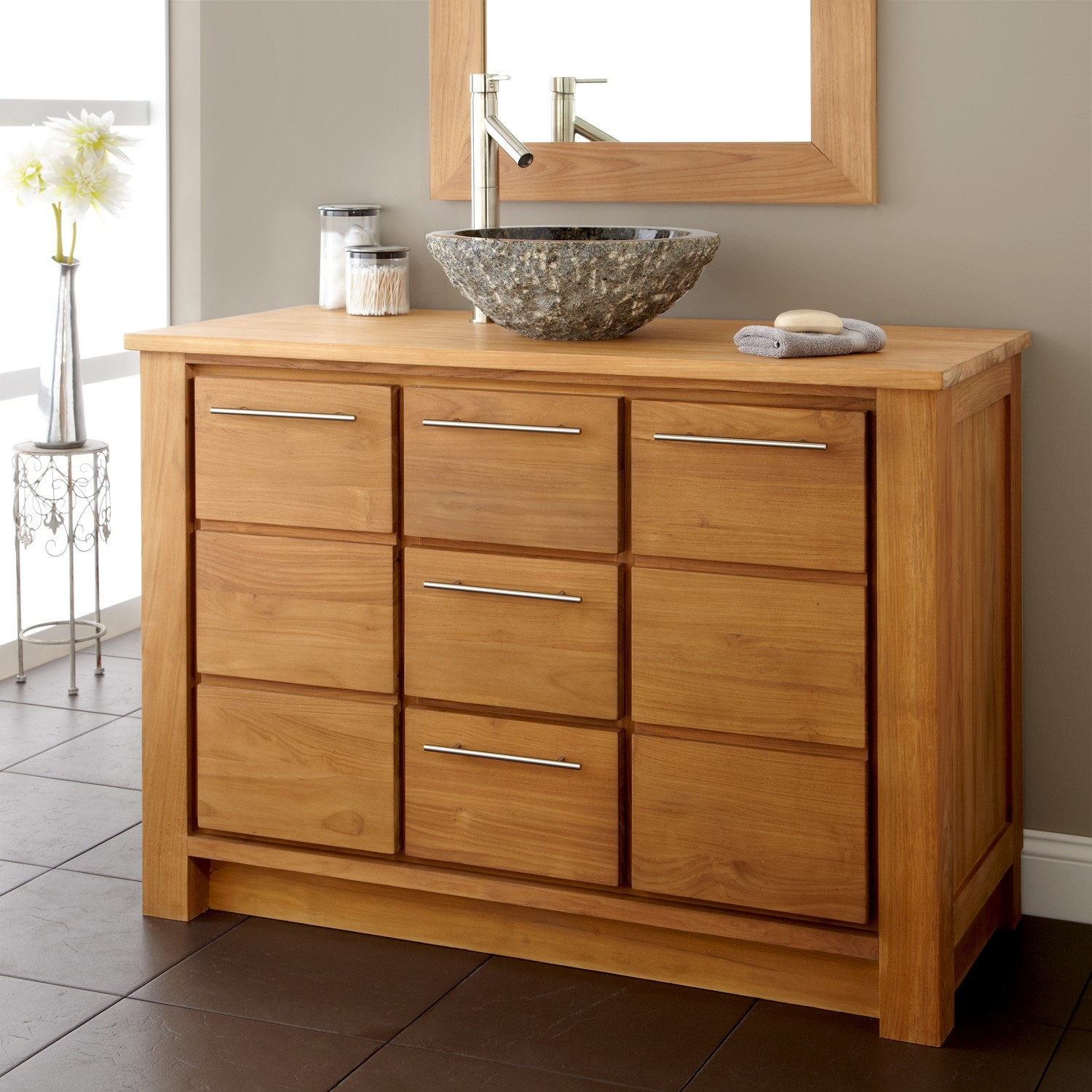 Solid Wood Bathroom Vanity Units
