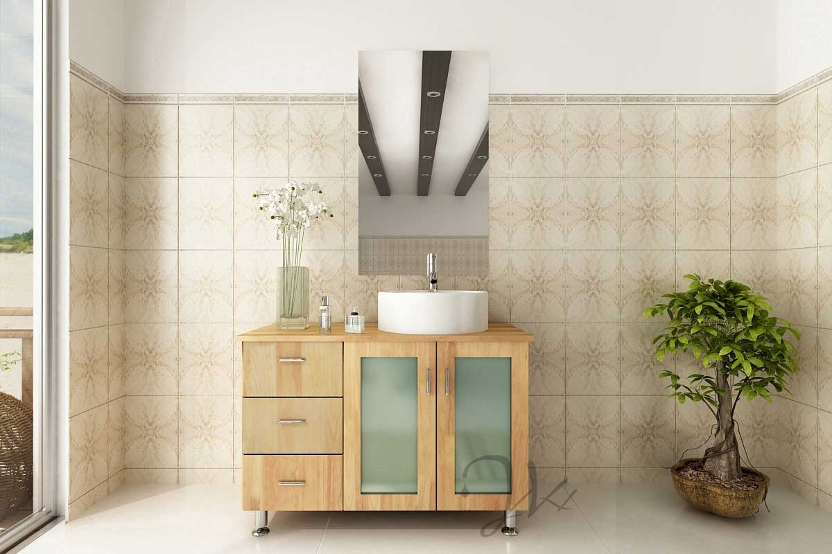 Solid Wood Bathroom Vanity With Sink