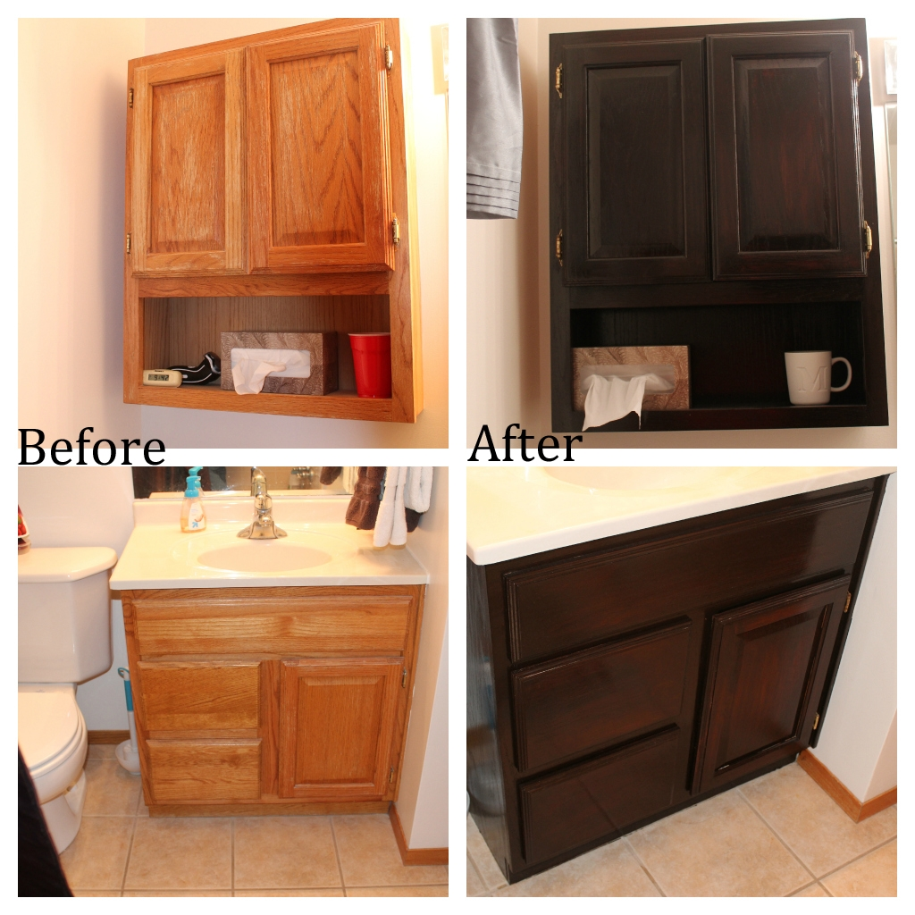 Staining Bathroom Cabinets