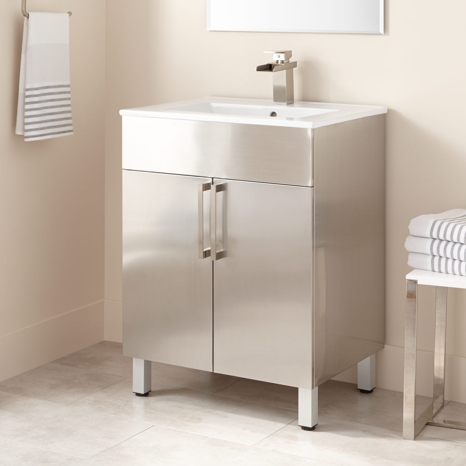 Stainless Steel Freestanding Bathroom Cabinets