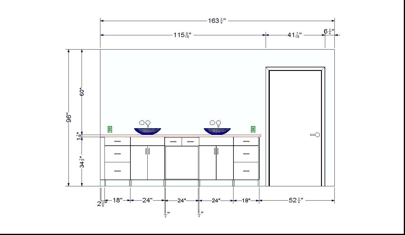 Stock Bathroom Cabinet Sizes