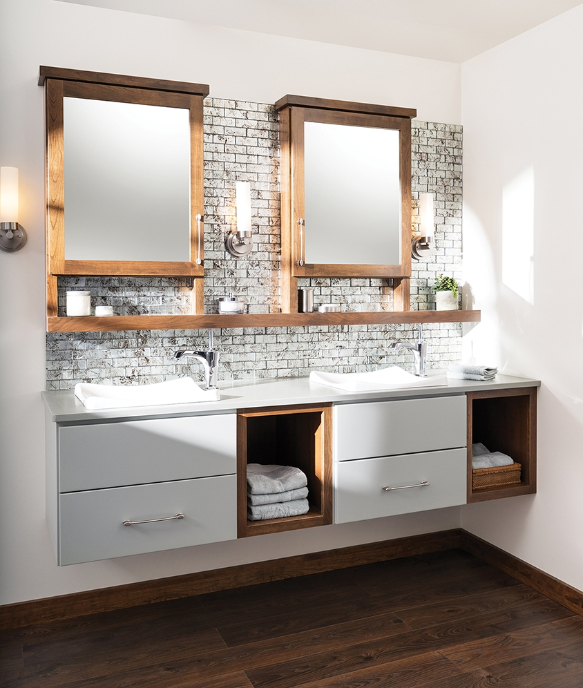 Suspended Cabinets In Bathroom