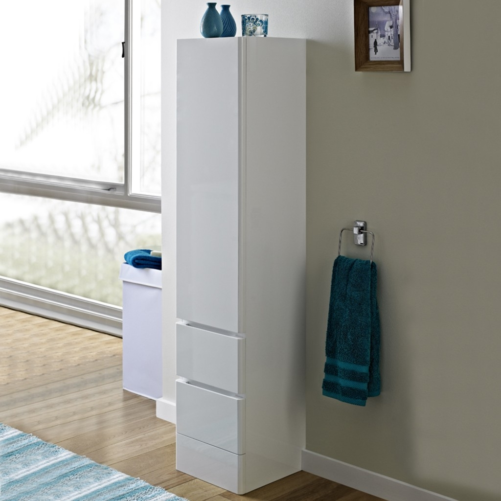 Permalink to Tall Bathroom Cabinet With Laundry Bin