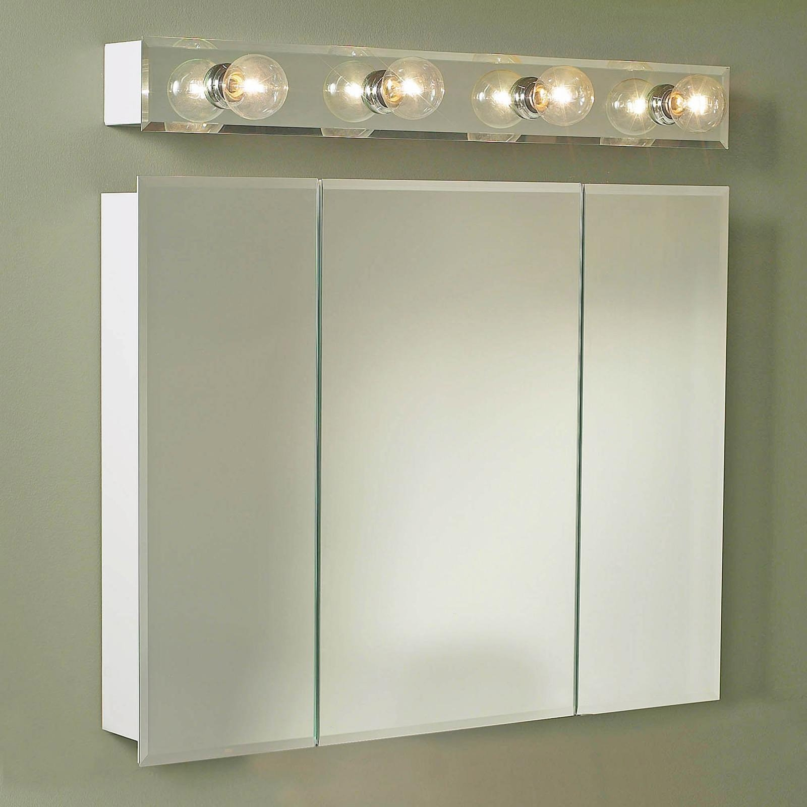 Permalink to Triple Mirror Door Bathroom Cabinet