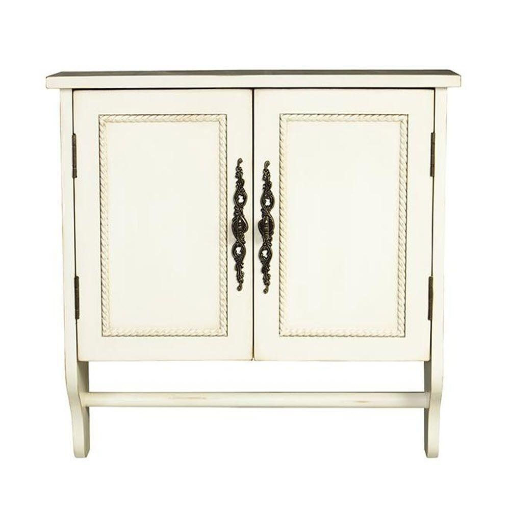 Vintage White Bathroom Wall Cabinets