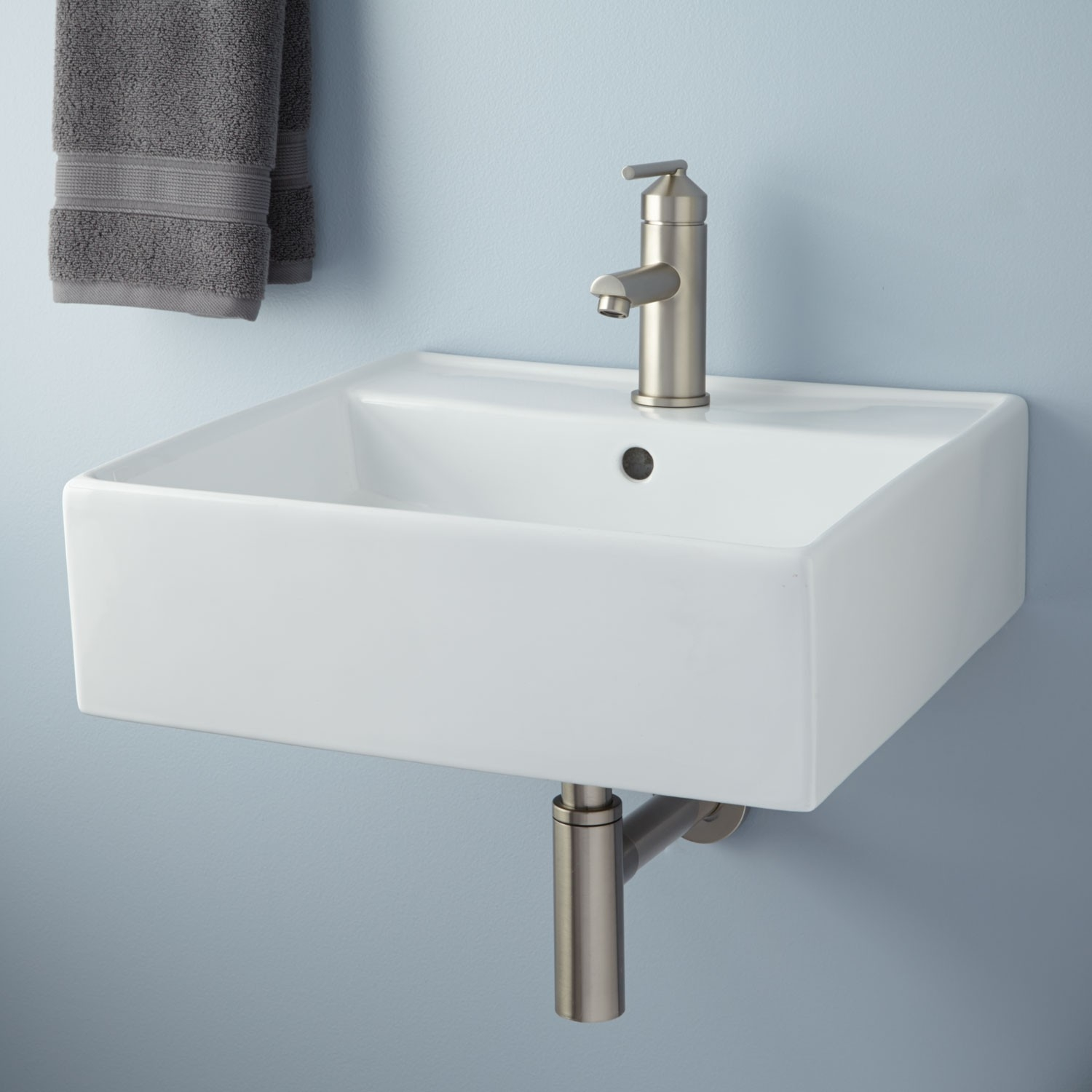 Wall Mount Bathroom Sinks White
